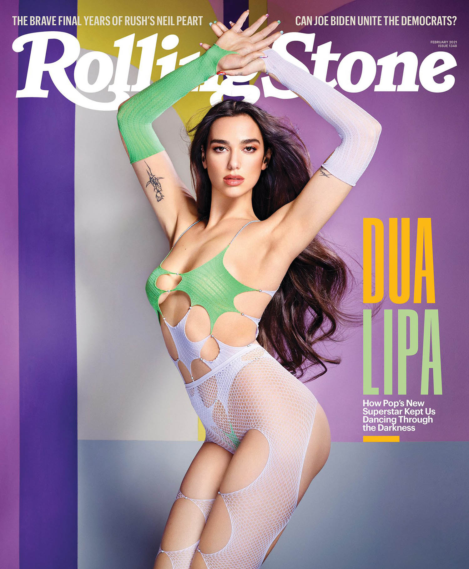 Dua Lipa covers Rolling Stone February 2021 by David LaChapelle