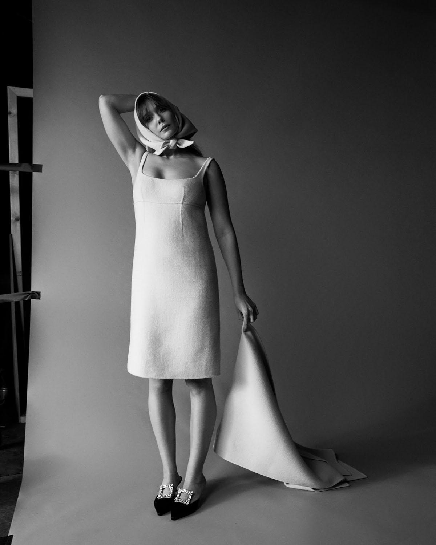 Elizabeth Olsen by Amar Daved for Elle US February 2021