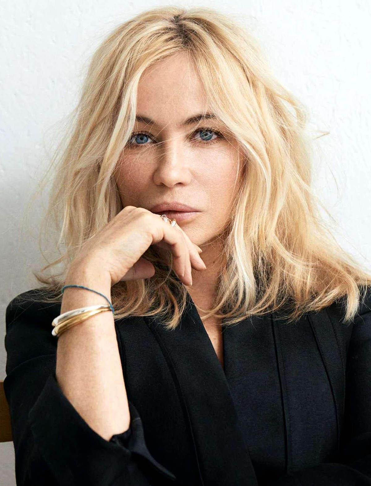 Emmanuelle Béart covers Elle France February 12th, 2021 by Dant Studio