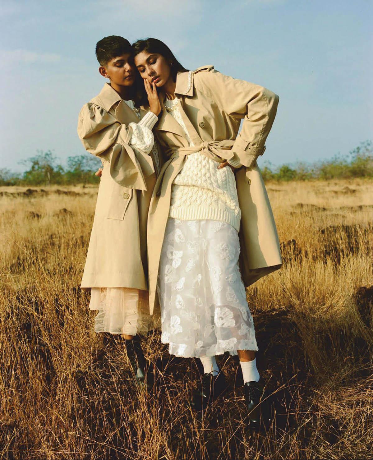 Haima Simoes and Shruti Venkatesh cover Vogue India February 2021 by Bikramjit Bose