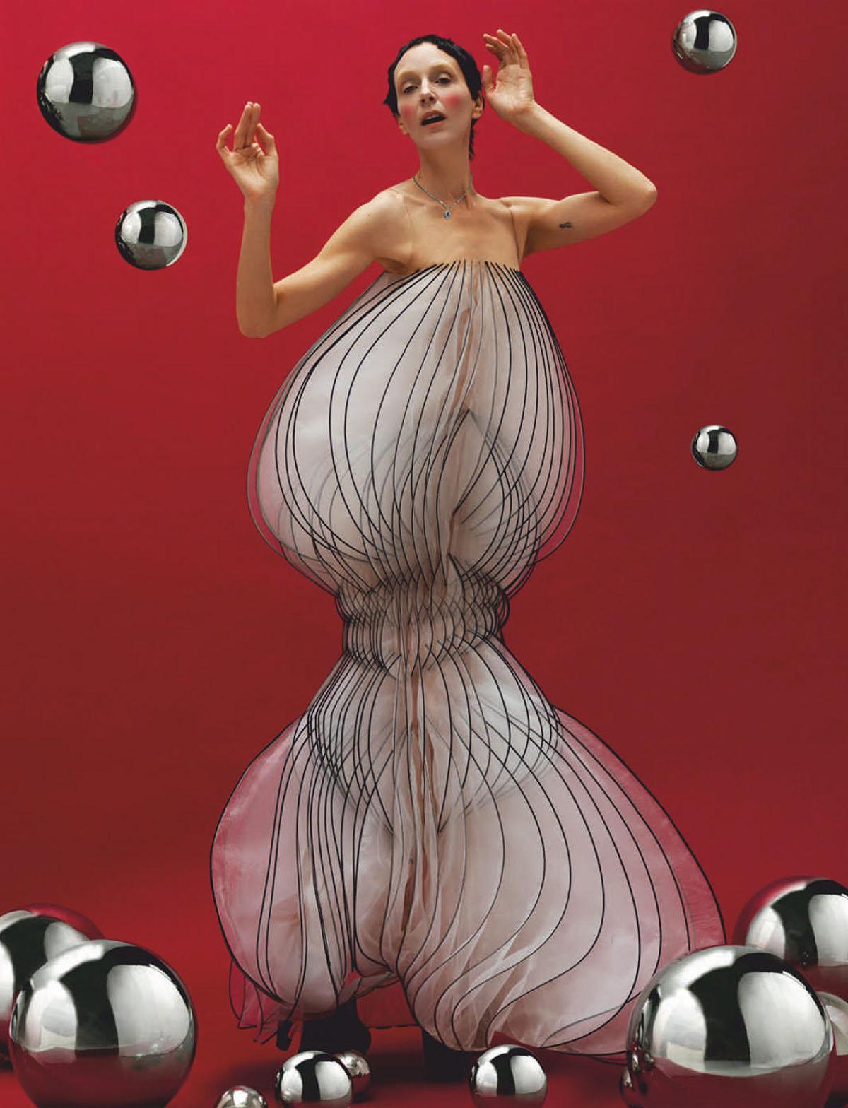 Hannelore Knuts covers L'Officiel Italia Issue 35 by Domen & Van de Velde