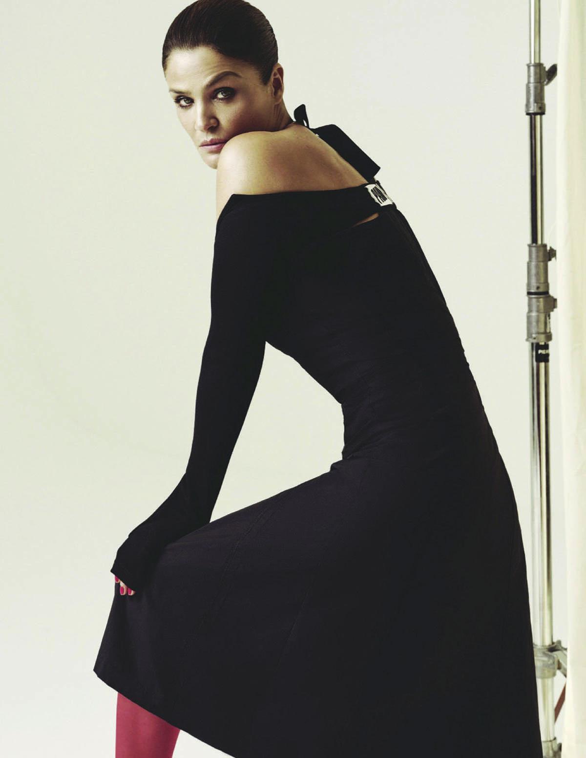 Helena Christensen covers Elle Russia February 2021 by Eduardo Rezende