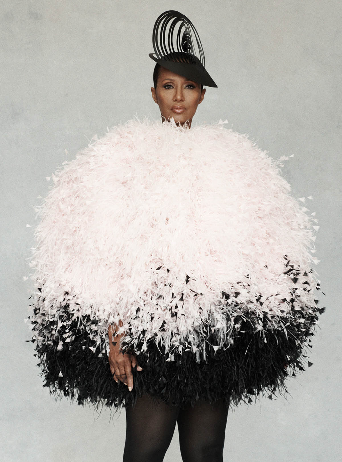 Iman covers Harper's Bazaar UK February 2021 by Paola Kudacki