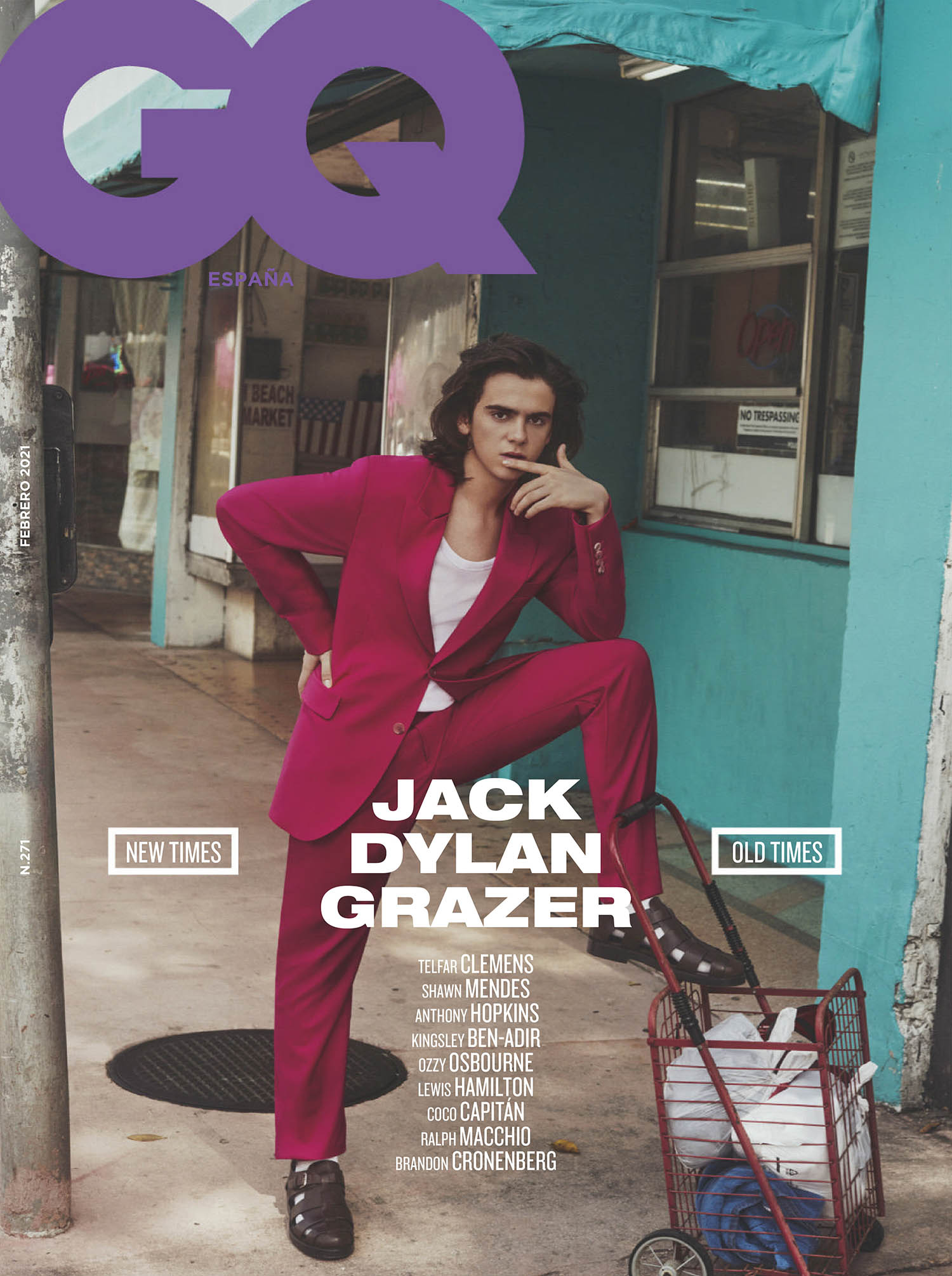 Jack Dylan Grazer covers GQ Spain February 2021 by Michael Schwartz