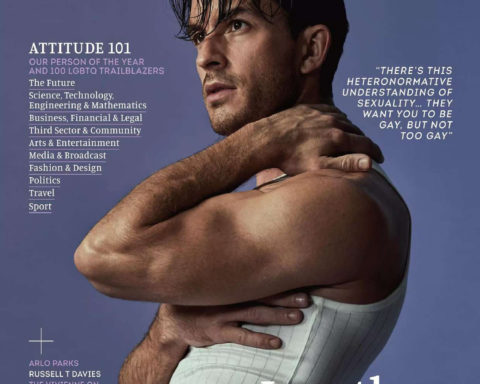 Jonathan Bailey covers Attitude Magazine February 2021 by Claire Harrison