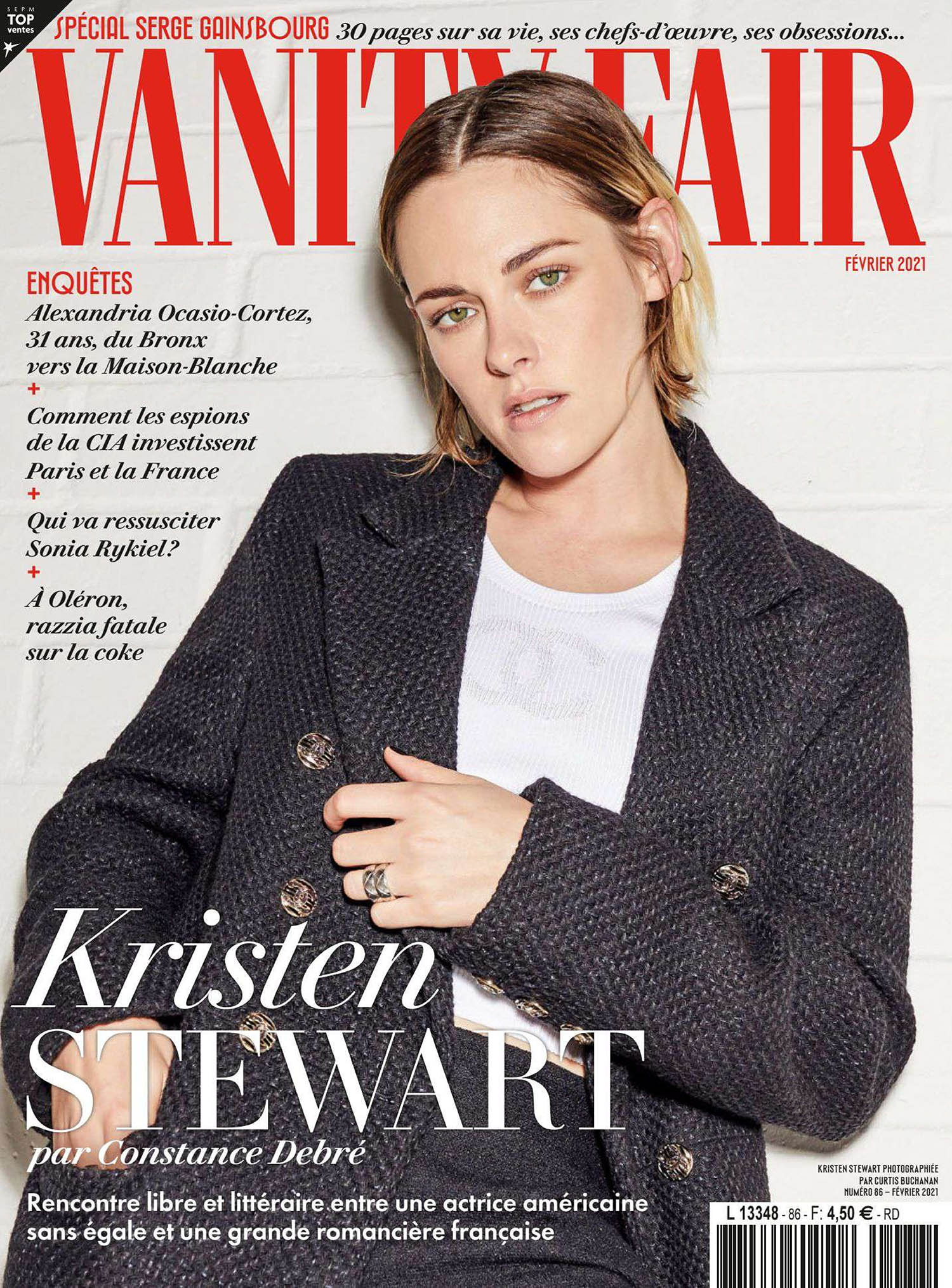 Kristen Stewart covers Vanity Fair France February 2021 by Curtis Buchanan