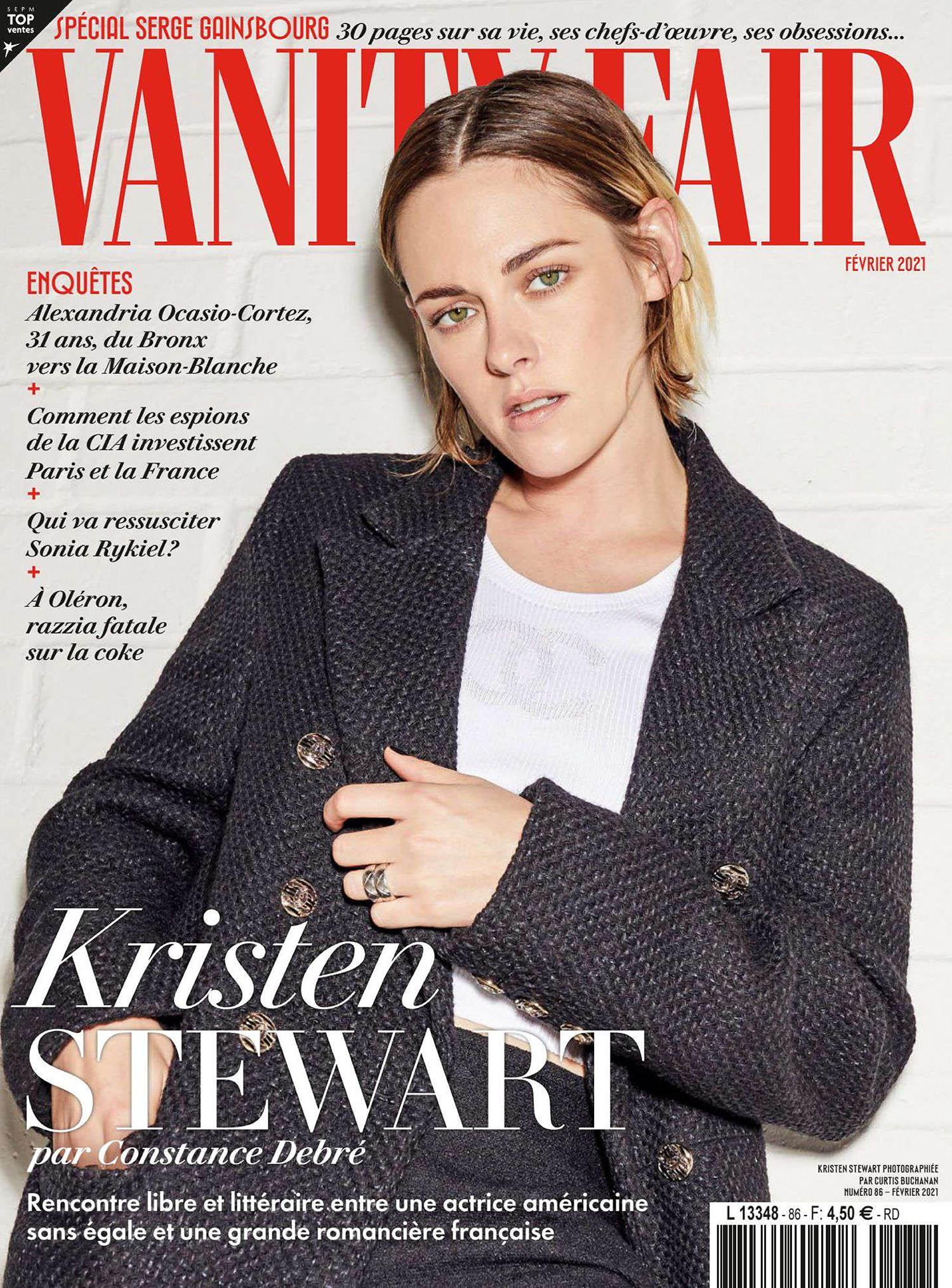 Kristen Stewart covers Vanity Fair France February 2021 by Curtis Buchanan