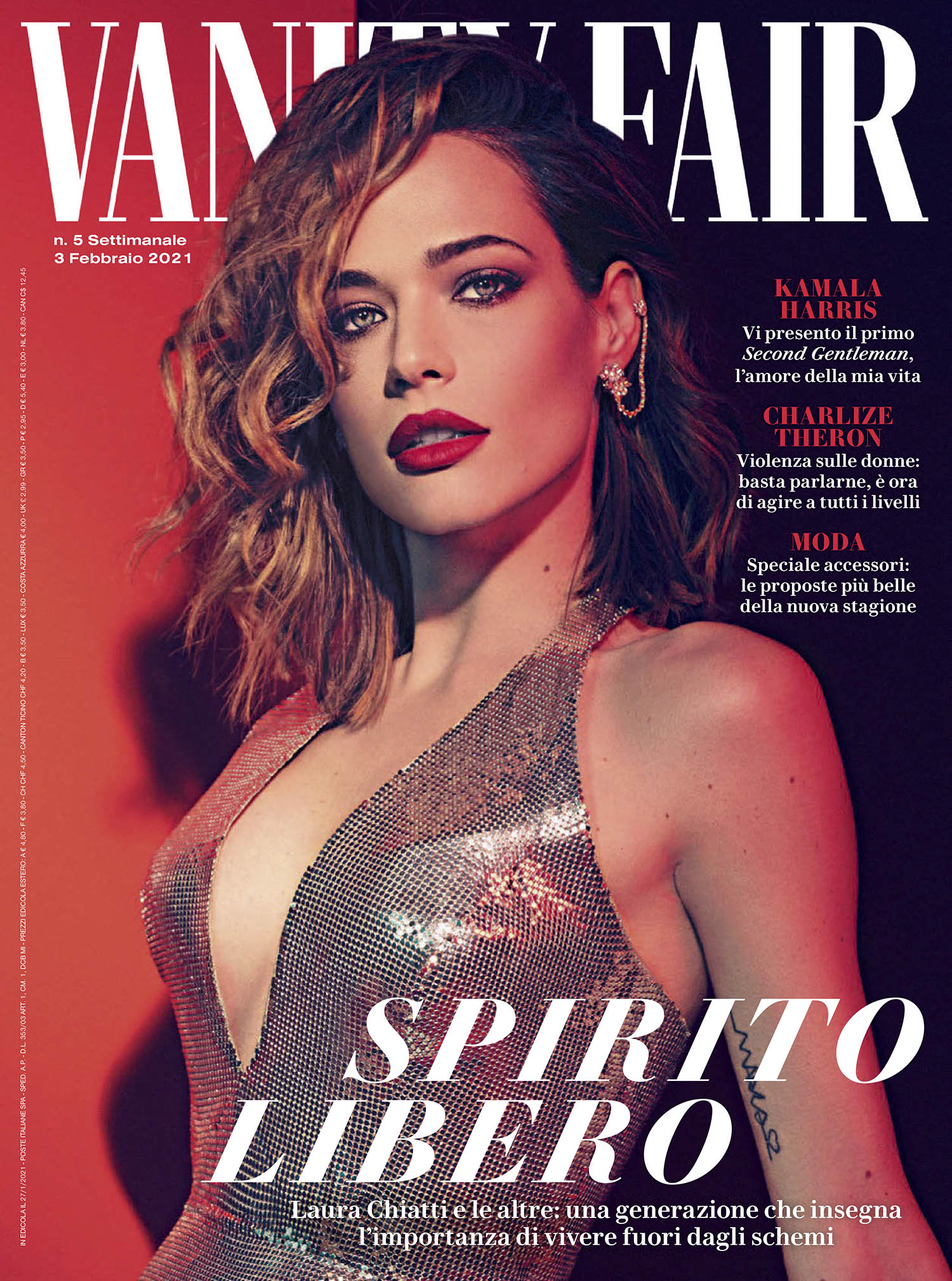 Laura Chiatti covers Vanity Fair Italia February 3rd, 2021 by Joseph Cardo