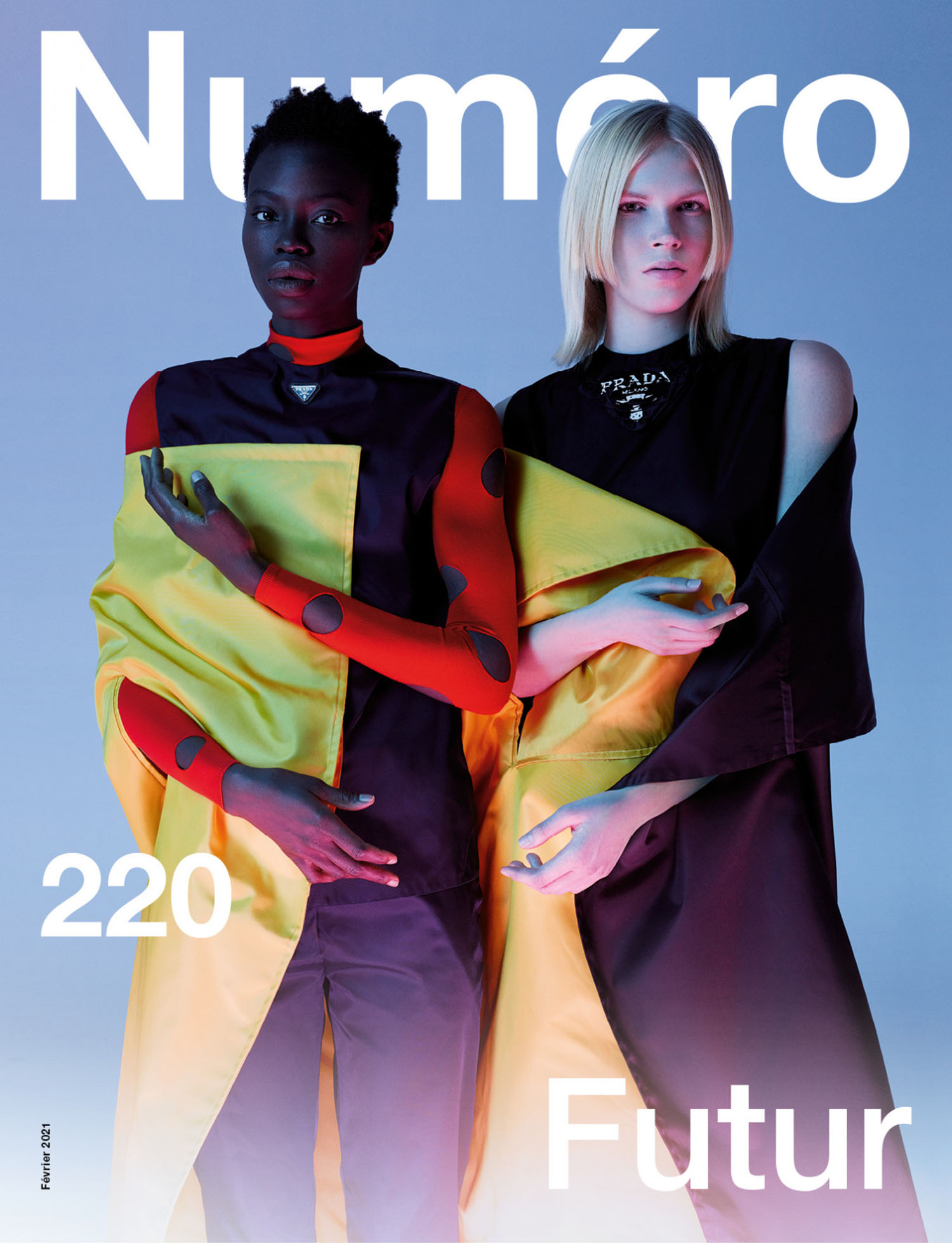 Lydia Kloos and Dija Kallon cover Numéro February 2021 by Jean-Baptiste Mondino