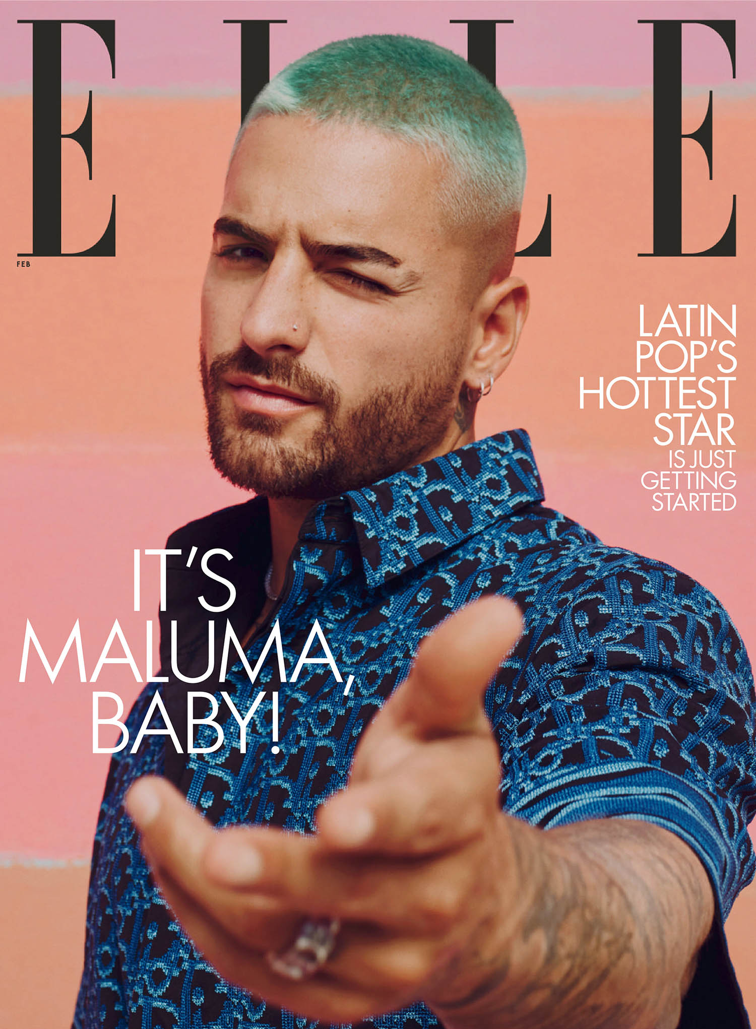 Maluma covers Elle US February 2021 by Micaiah Carter