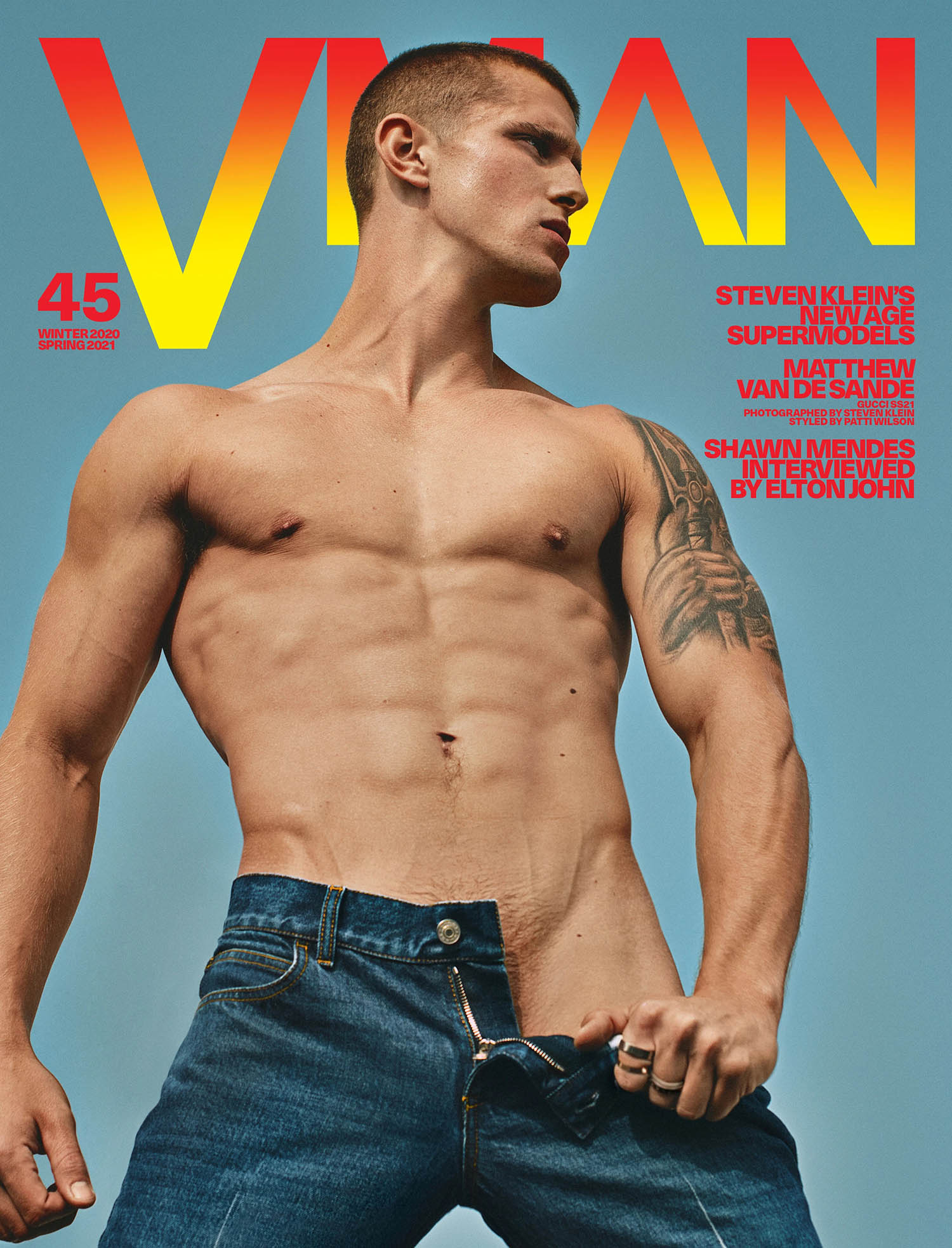 Matt van de Sande covers VMan Winter 2020 Spring 2021 by Steven Klein