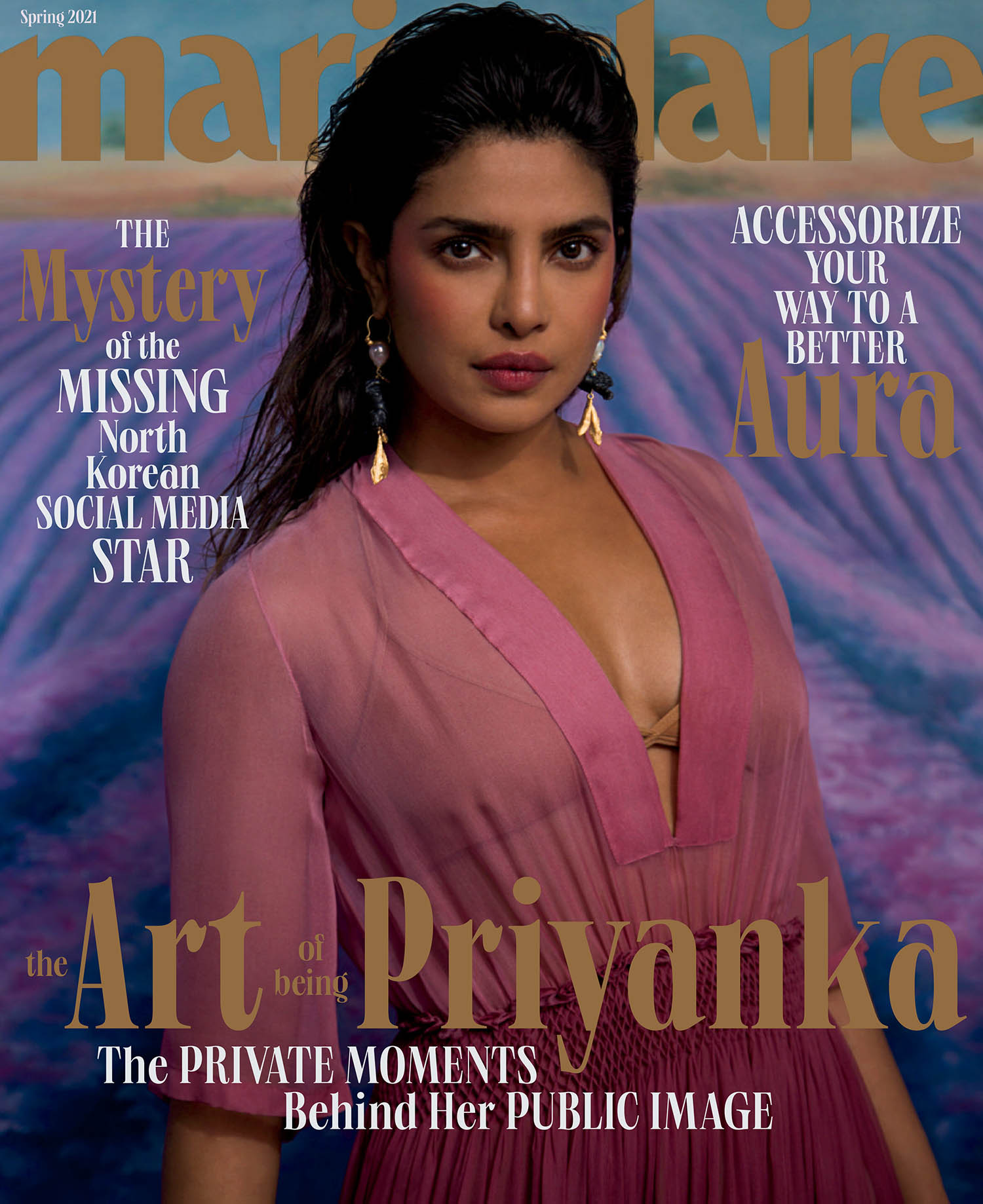 Priyanka Chopra covers Marie Claire US Spring 2021 by Ruth Ossai