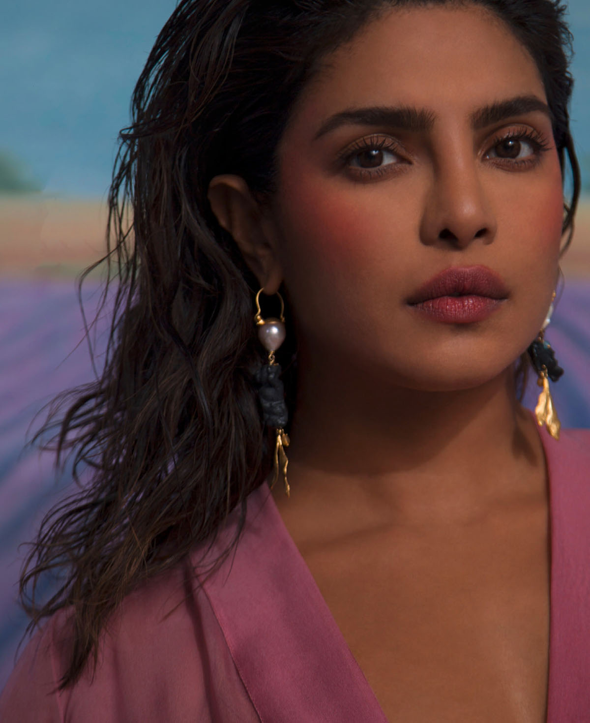 Priyanka Chopra covers Marie Claire US Spring 2021 by Ruth Ossai