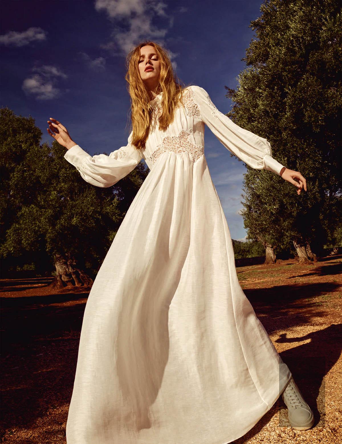 Rianne van Rompaey covers Vogue Japan February 2021 by Luigi & Iango