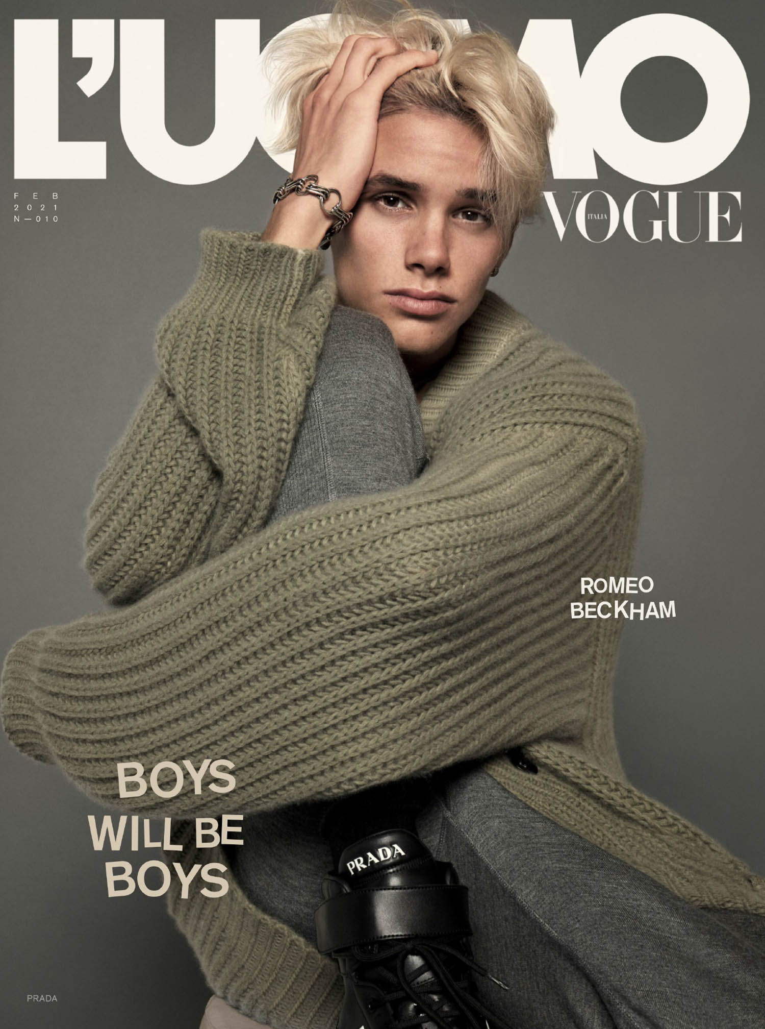 Romeo Beckham covers L'Uomo Vogue Issue 10 by Mert & Marcus