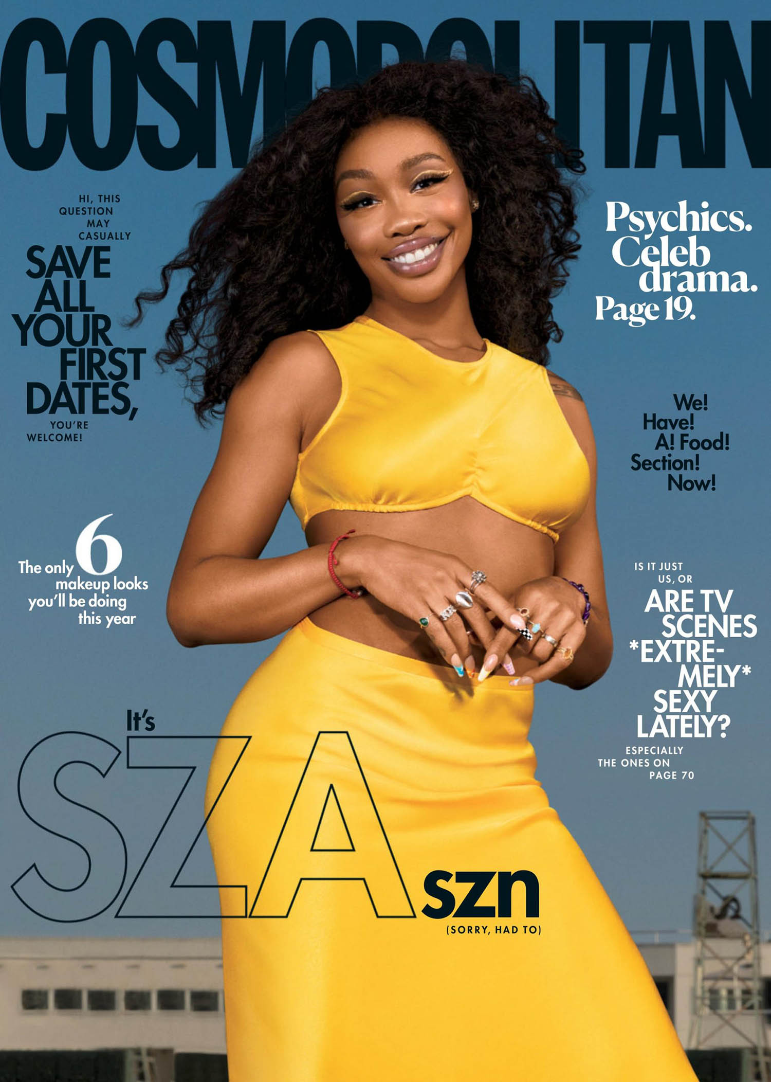 SZA covers Cosmopolitan US February 2021 by Djeneba Aduayom