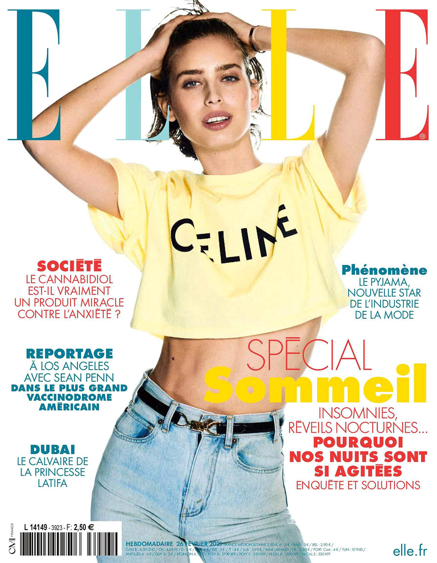 Sean Levy covers Elle France February 26th, 2021 by Boo George