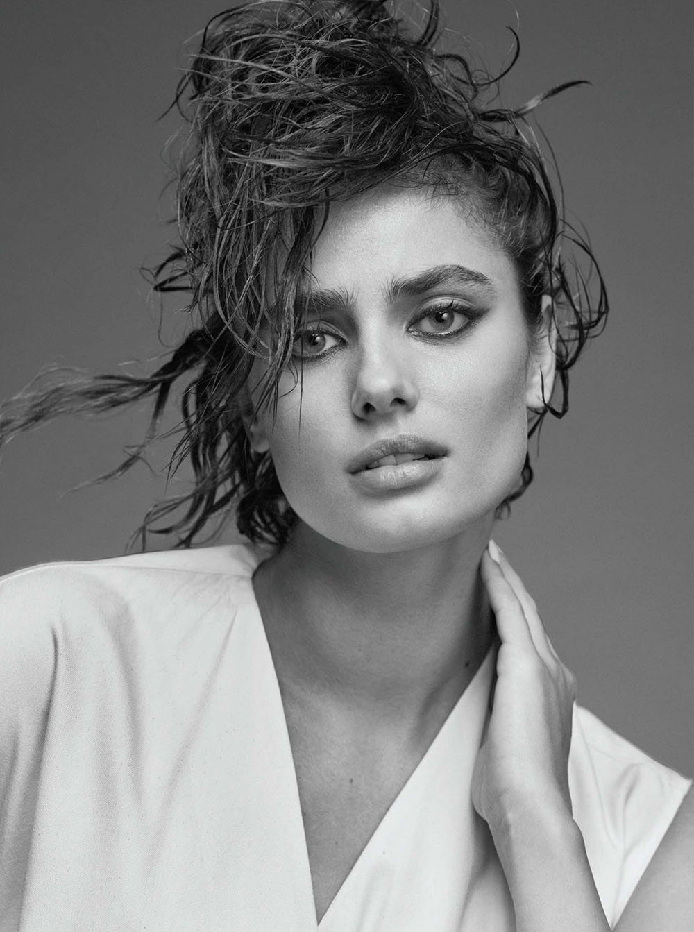 Taylor Hill covers Vogue Greece January/February 2021 by Nico Bustos