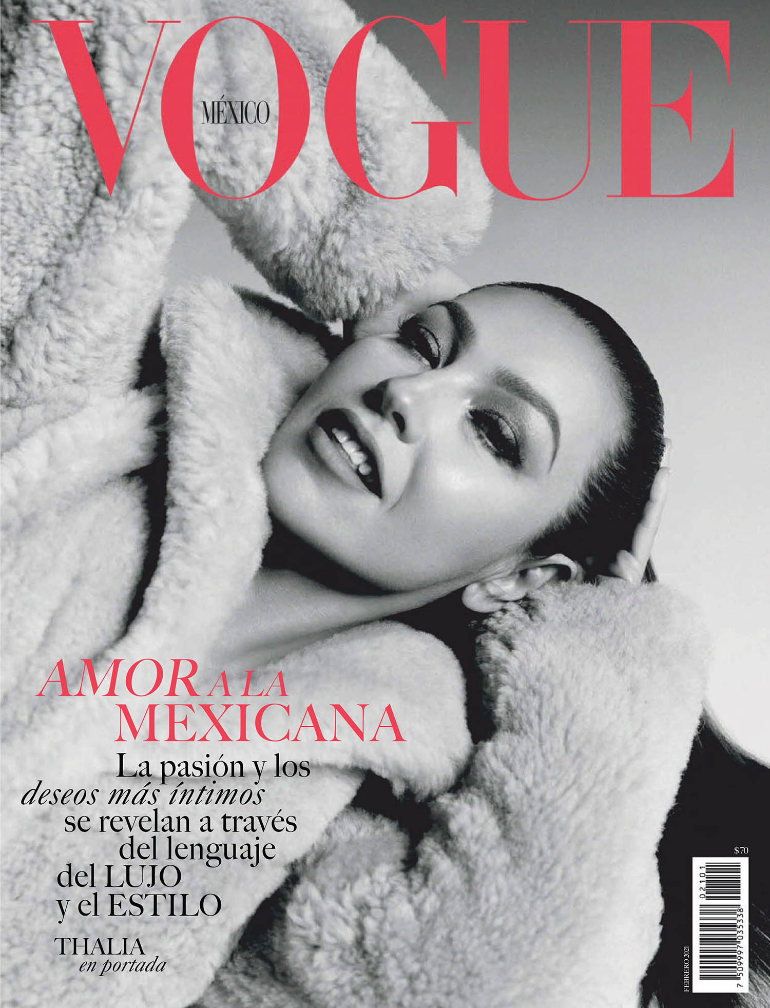 Thalía covers Vogue Mexico February 2021 by Bjorn Iooss