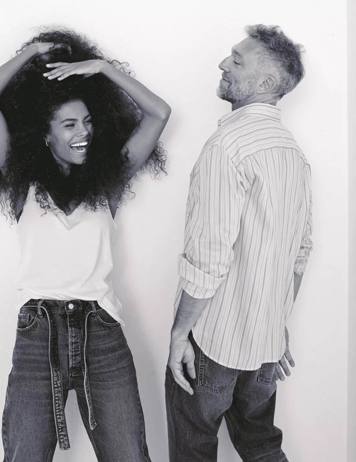 Vincent Cassel and Tina Kunakey cover Madame Figaro February 5th, 2021 by Dant Studio