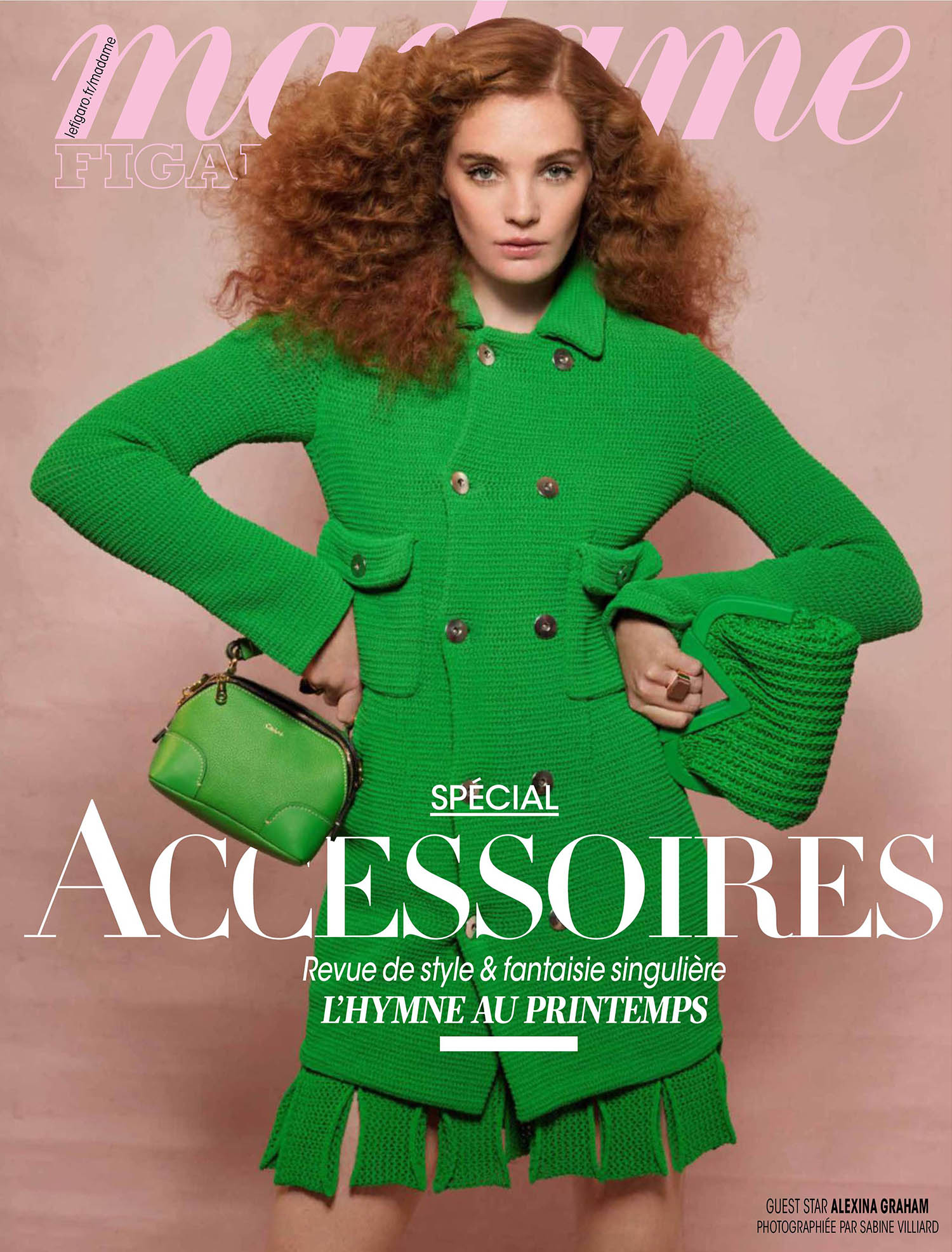 Alexina Graham covers Madame Figaro March 5th, 2021 by Sabine Villiard