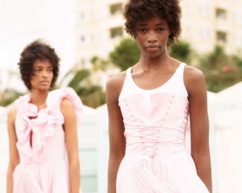 Ana Flavia and Michele Opiyo by Ina Lekiewicz for Harper's Bazaar UK March 2021