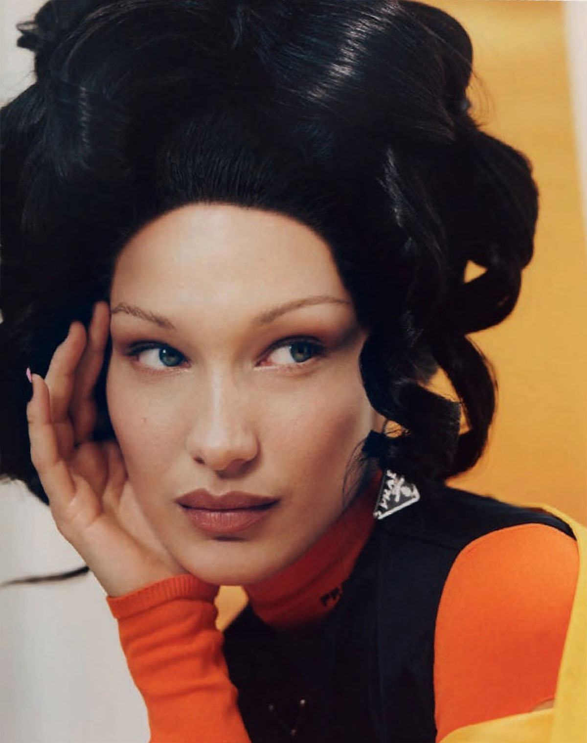 Bella Hadid covers Vogue Spain March 2021 by Micaiah Carter