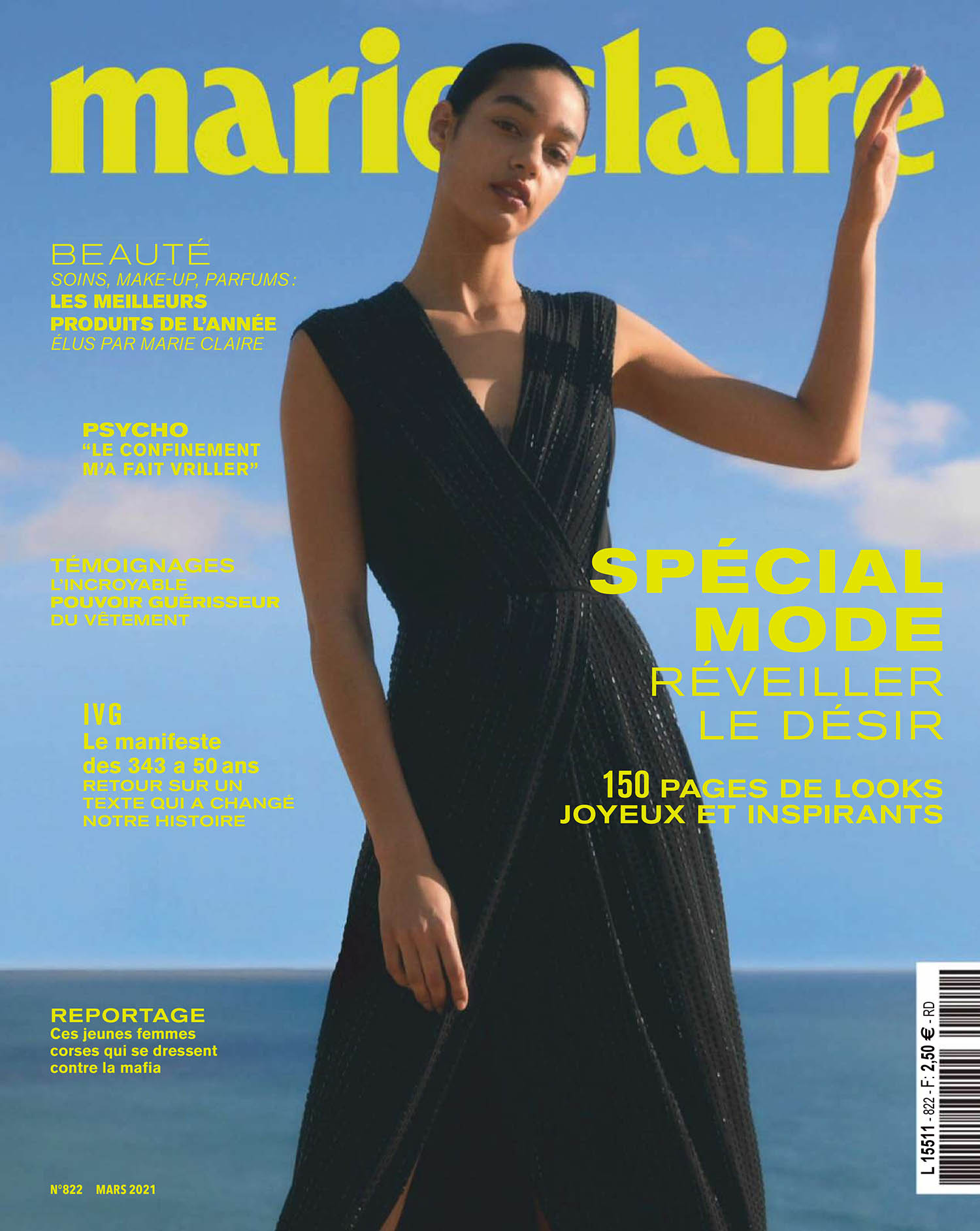 Damaris Goddrie covers Marie Claire France March 2021 by Jesse Laitinen