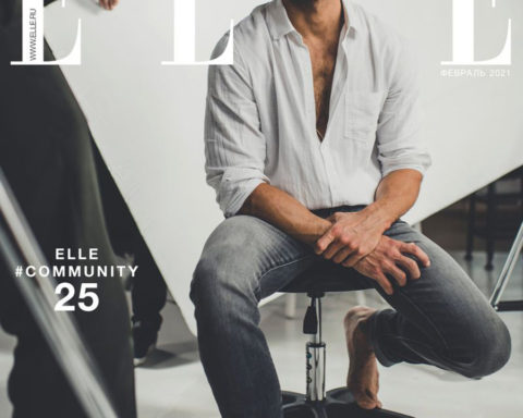 David Gandy covers Elle Russia February 2021 by Amy Shore