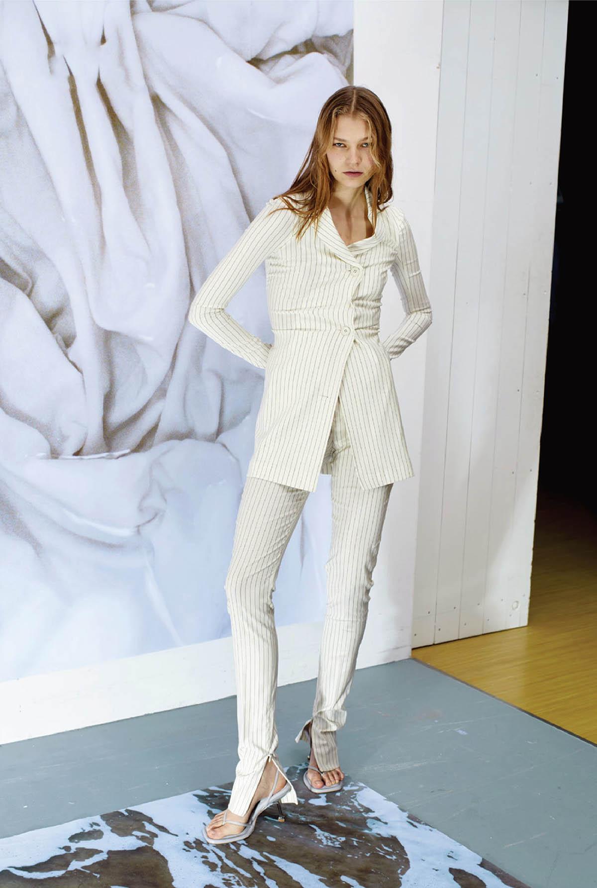 Deirdre Firinne and Yuki van Gog by Markus Pritzi for Vogue Netherlands March 2021