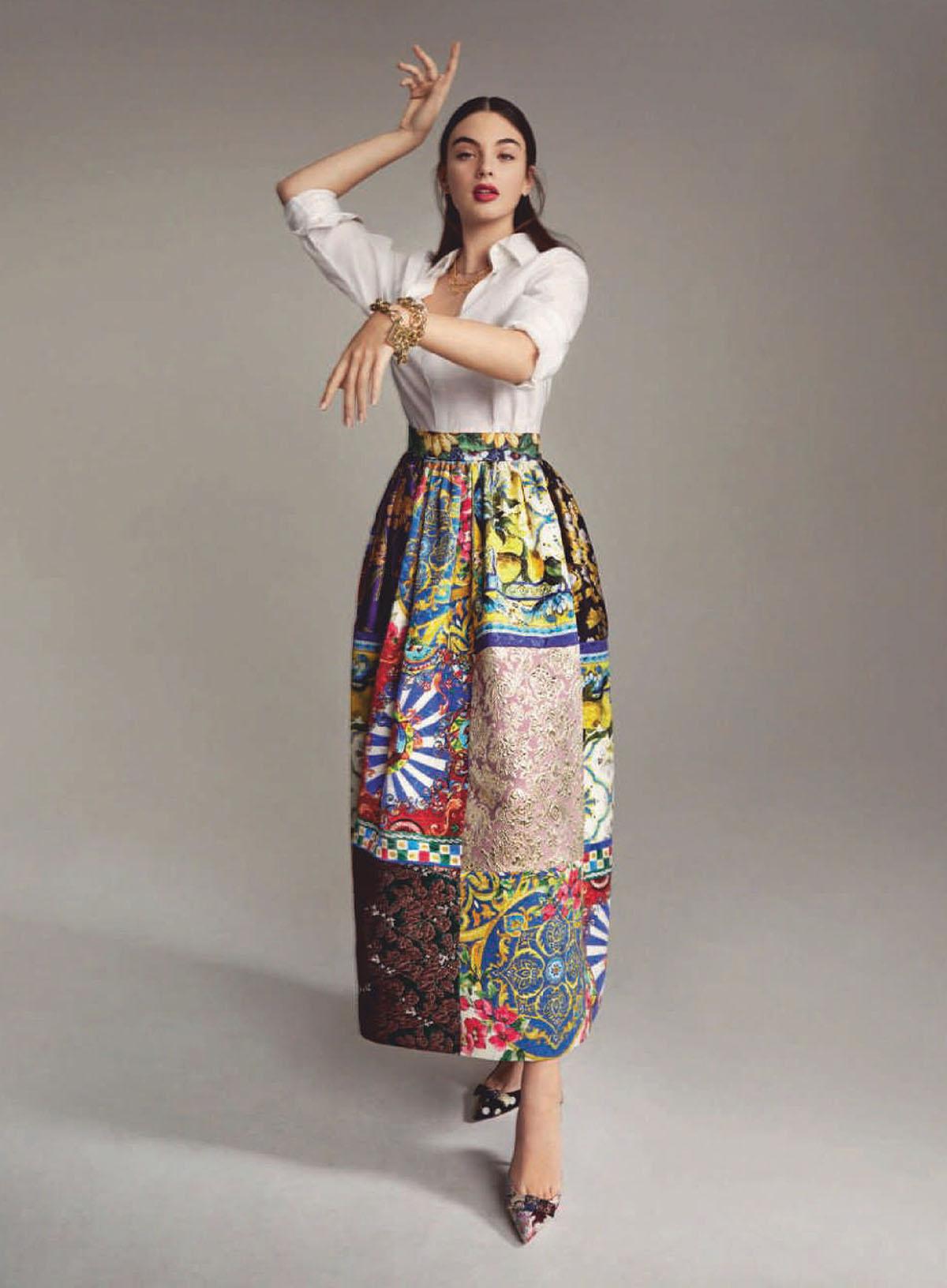 Deva Cassel covers Harper's Bazaar Spain March 2021 by Xavi Gordo