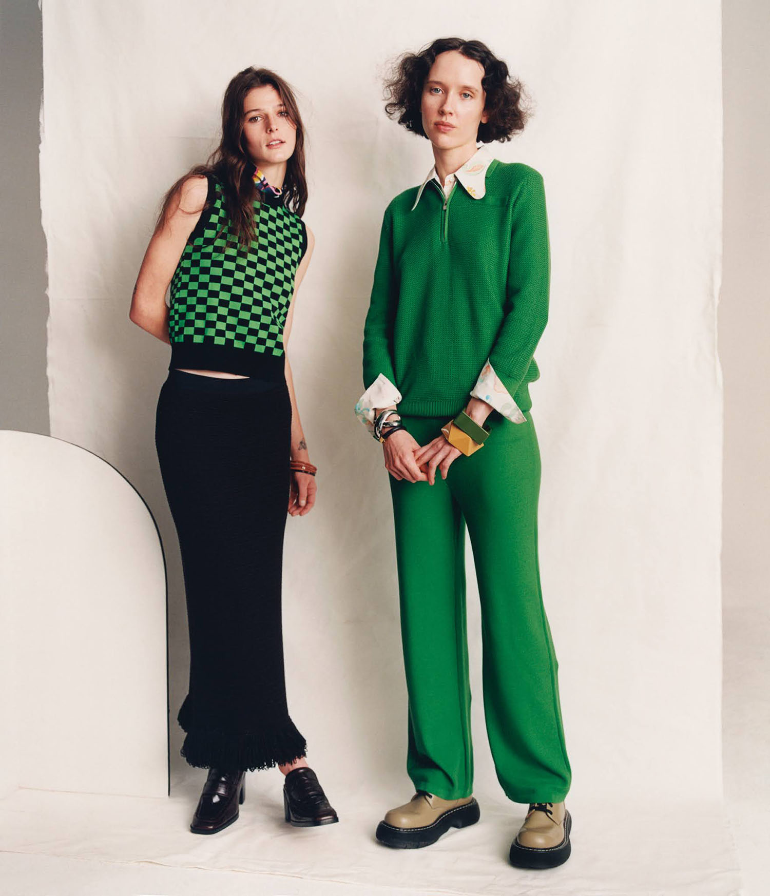 Effie Steinberg and Charlotte O'Donnell by Krisztián Éder for WSJ. Magazine Spring 2021