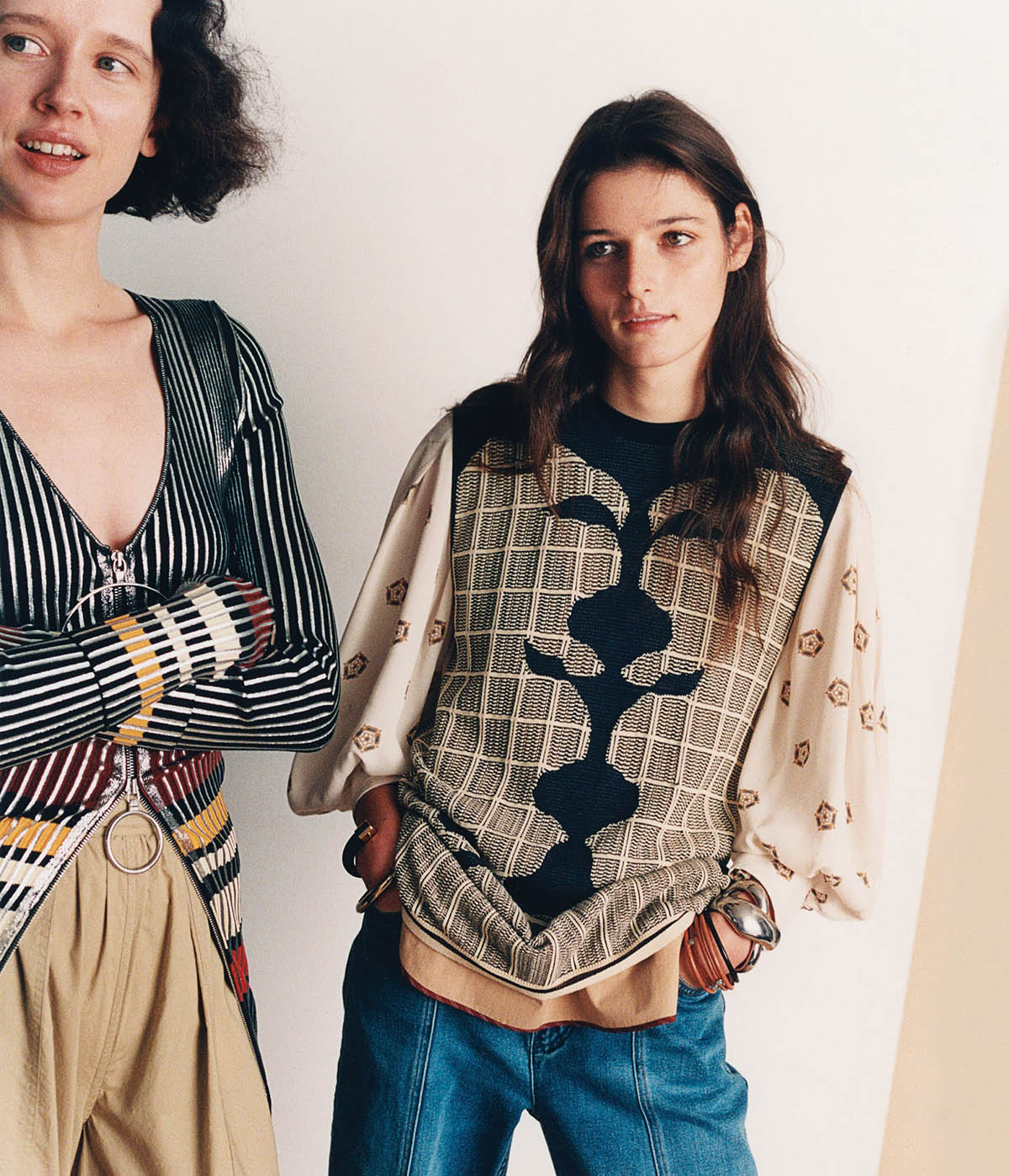 Effie Steinberg and Charlotte O'Donnell by Krisztián Éder for WSJ. Magazine Spring 2021
