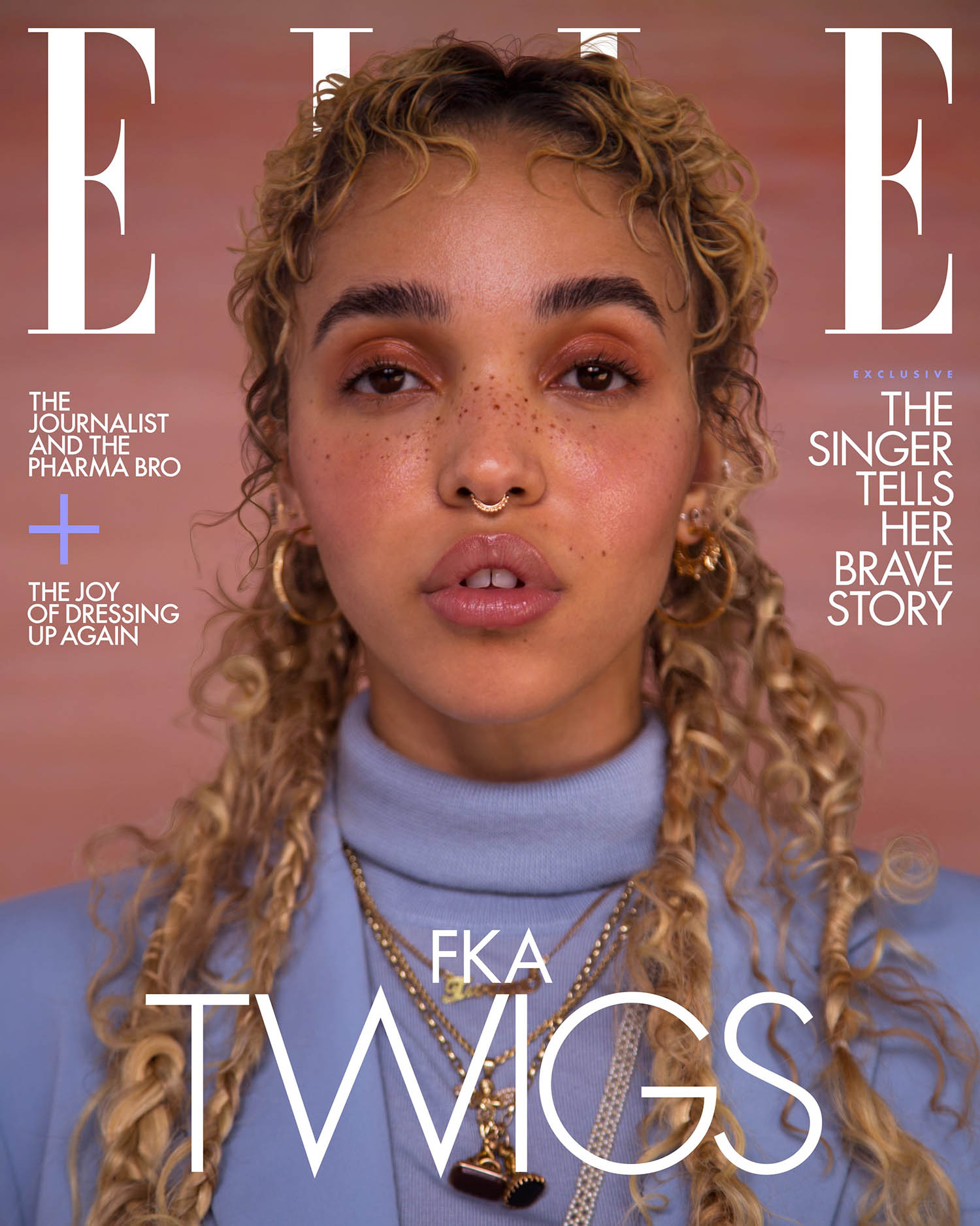 FKA Twigs covers Elle US March 2021 by Ruth Ossai
