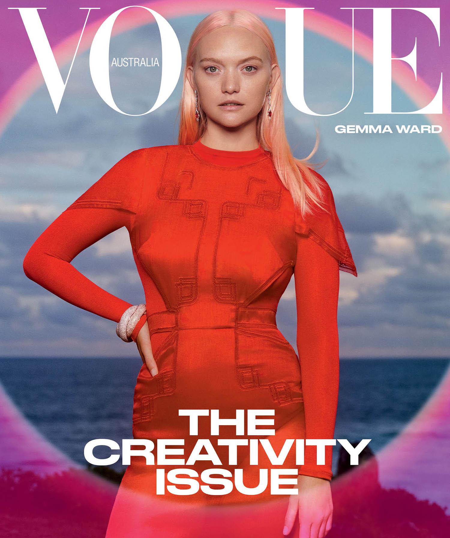 Gemma Ward covers Vogue Australia March 2021 by Derek Henderson