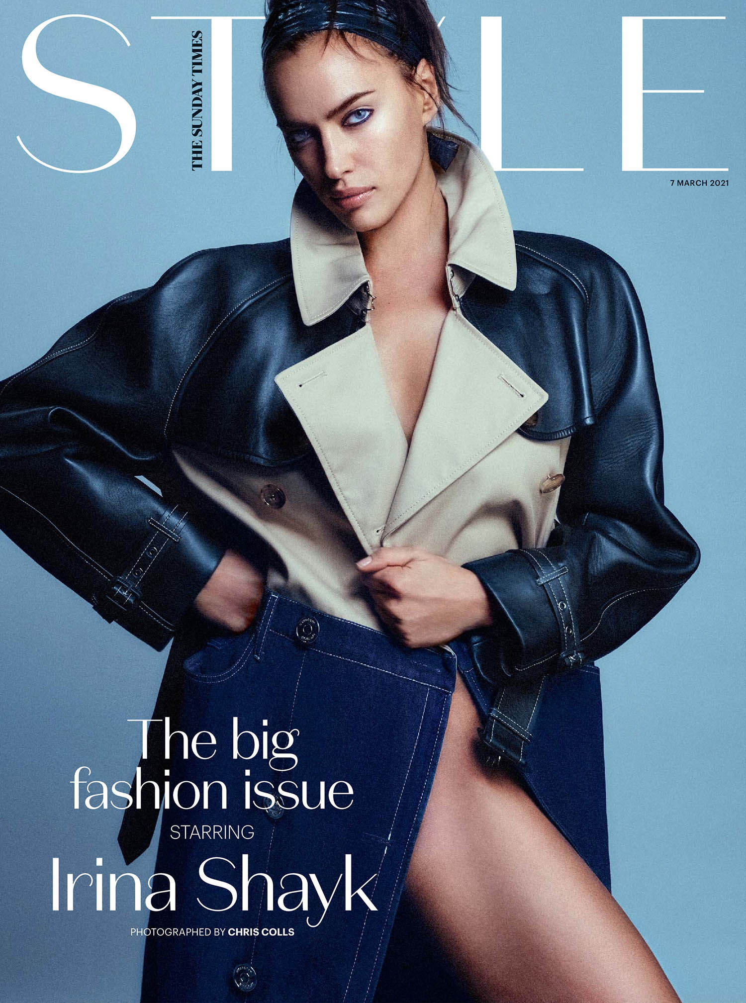 Irina Shayk covers The Sunday Times Style March 7th, 2021 by Chris Colls