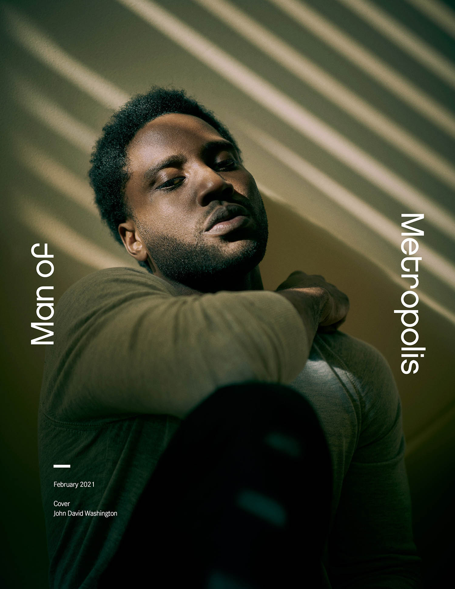 John David Washington covers Man of Metropolis February 2021 by Dominic Miller