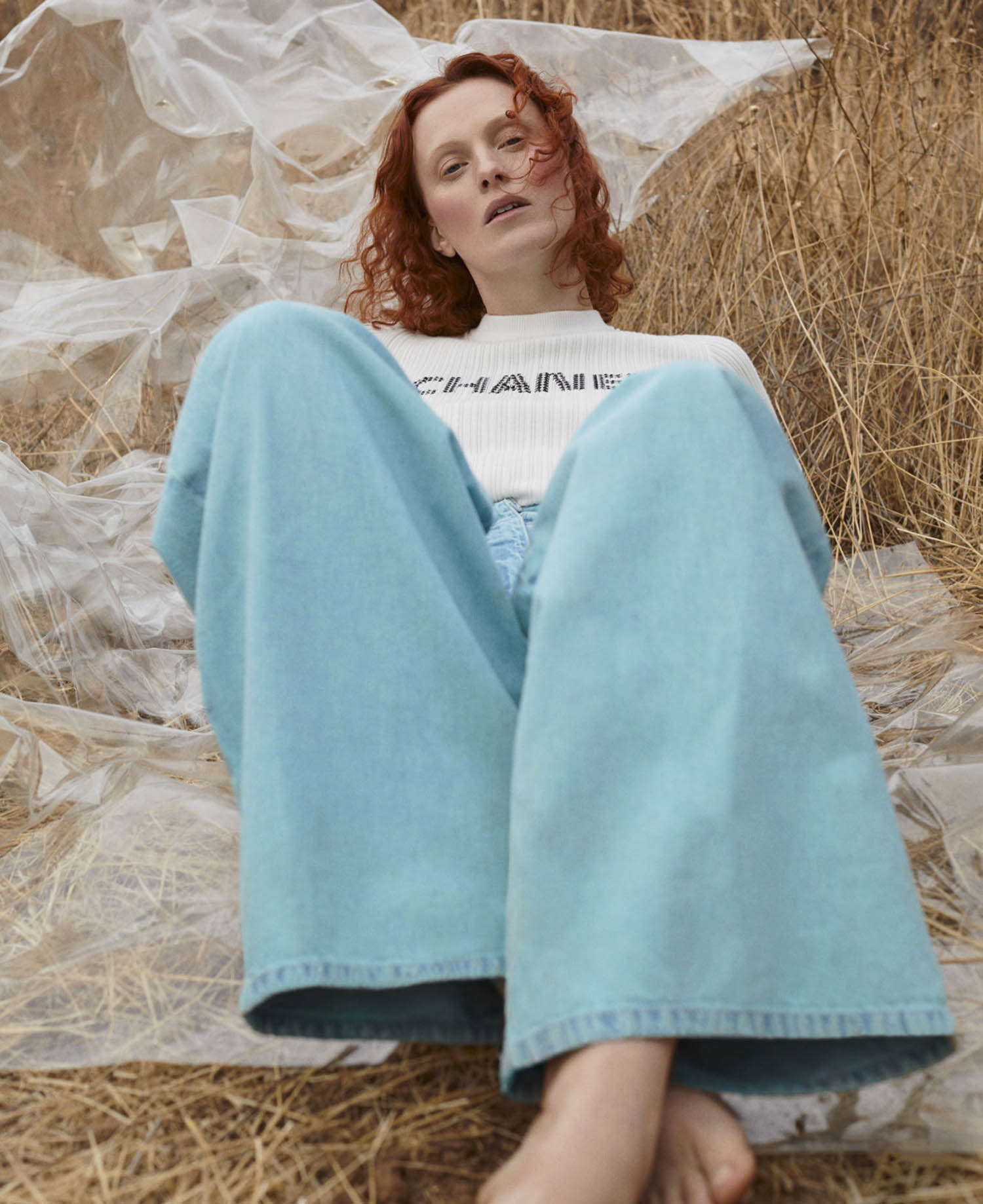 Karen Elson by Zoey Grossman for Elle US March 2021