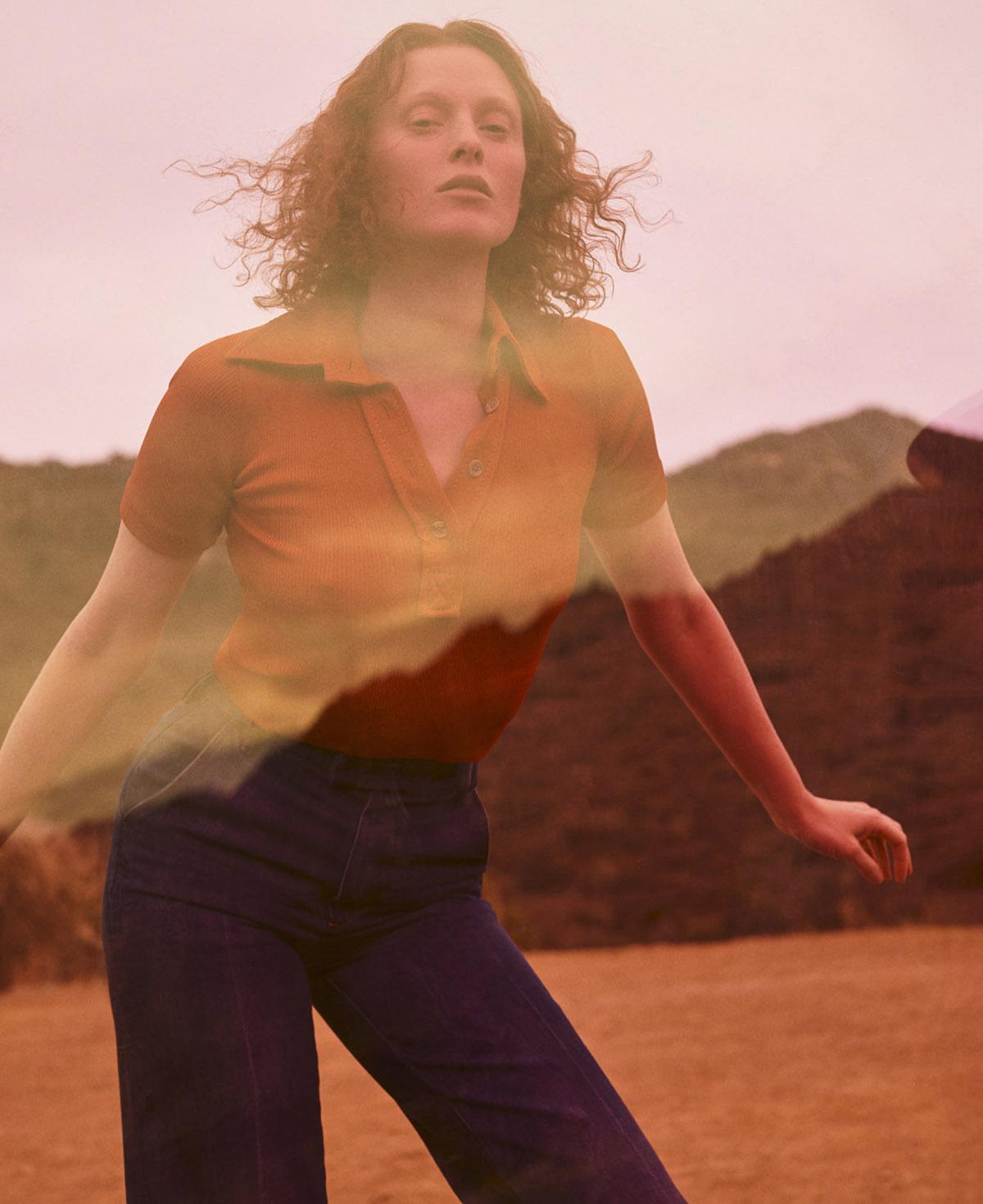 Karen Elson by Zoey Grossman for Elle US March 2021
