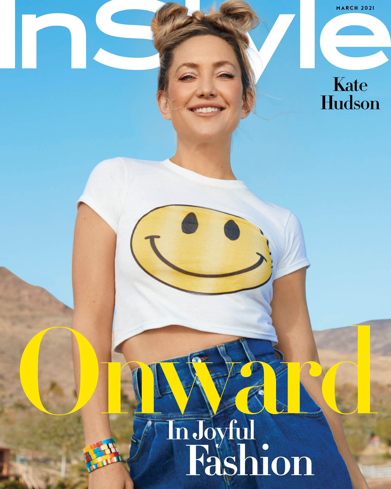 Kate Hudson covers InStyle US March 2021 by AB+DM