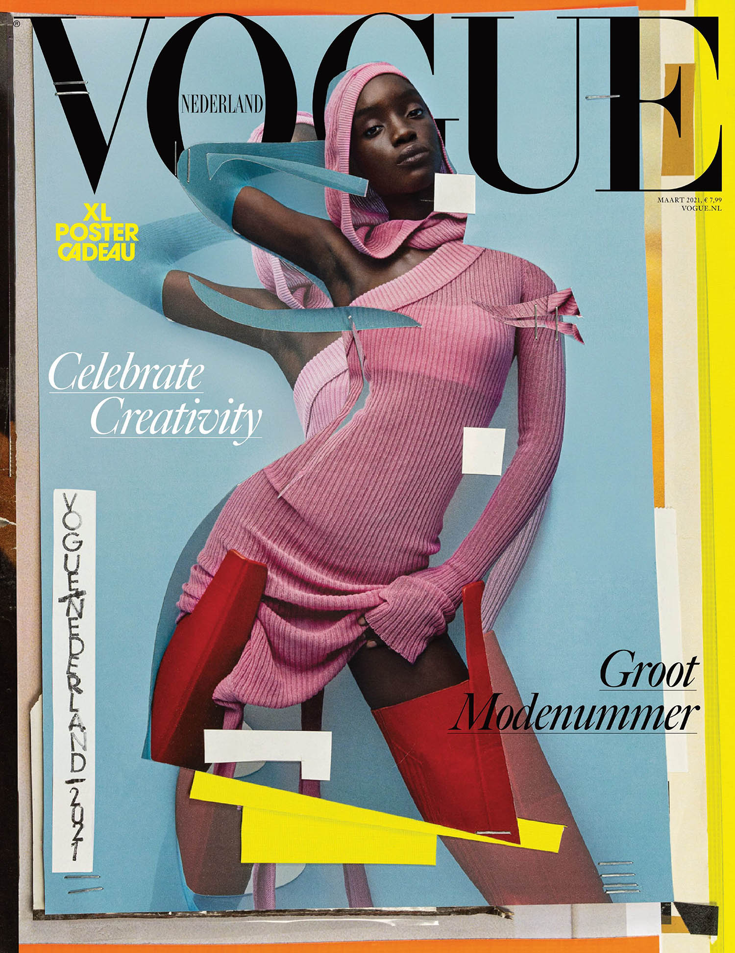 Maty Fall covers Vogue Netherlands March 2021 by Julia Noni