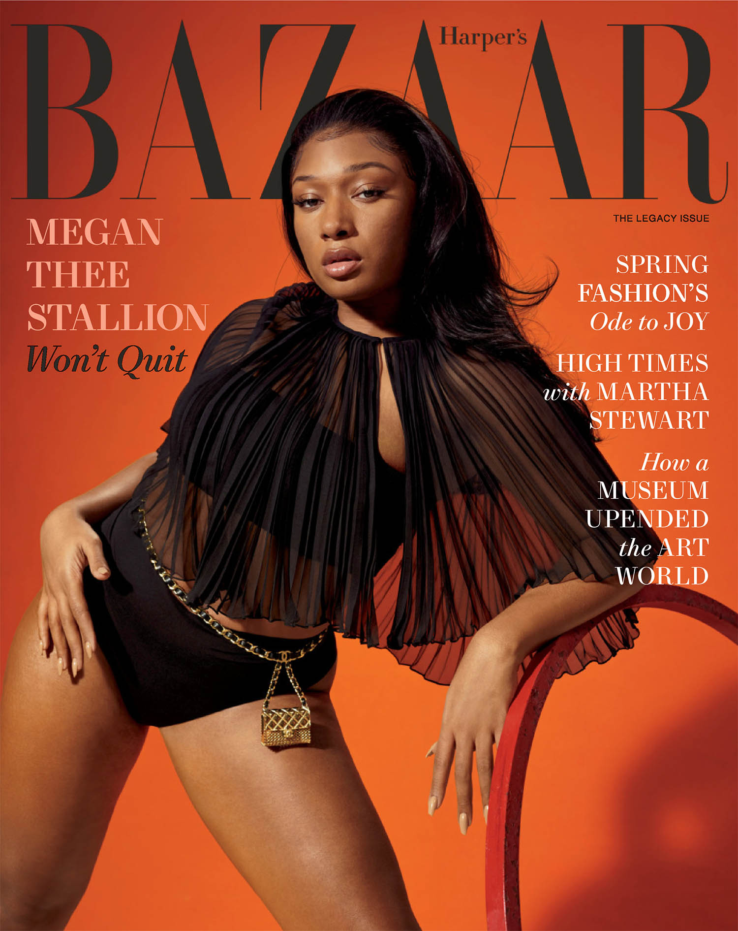 Megan Thee Stallion covers Harper's Bazaar US March 2021 by Collier Schorr