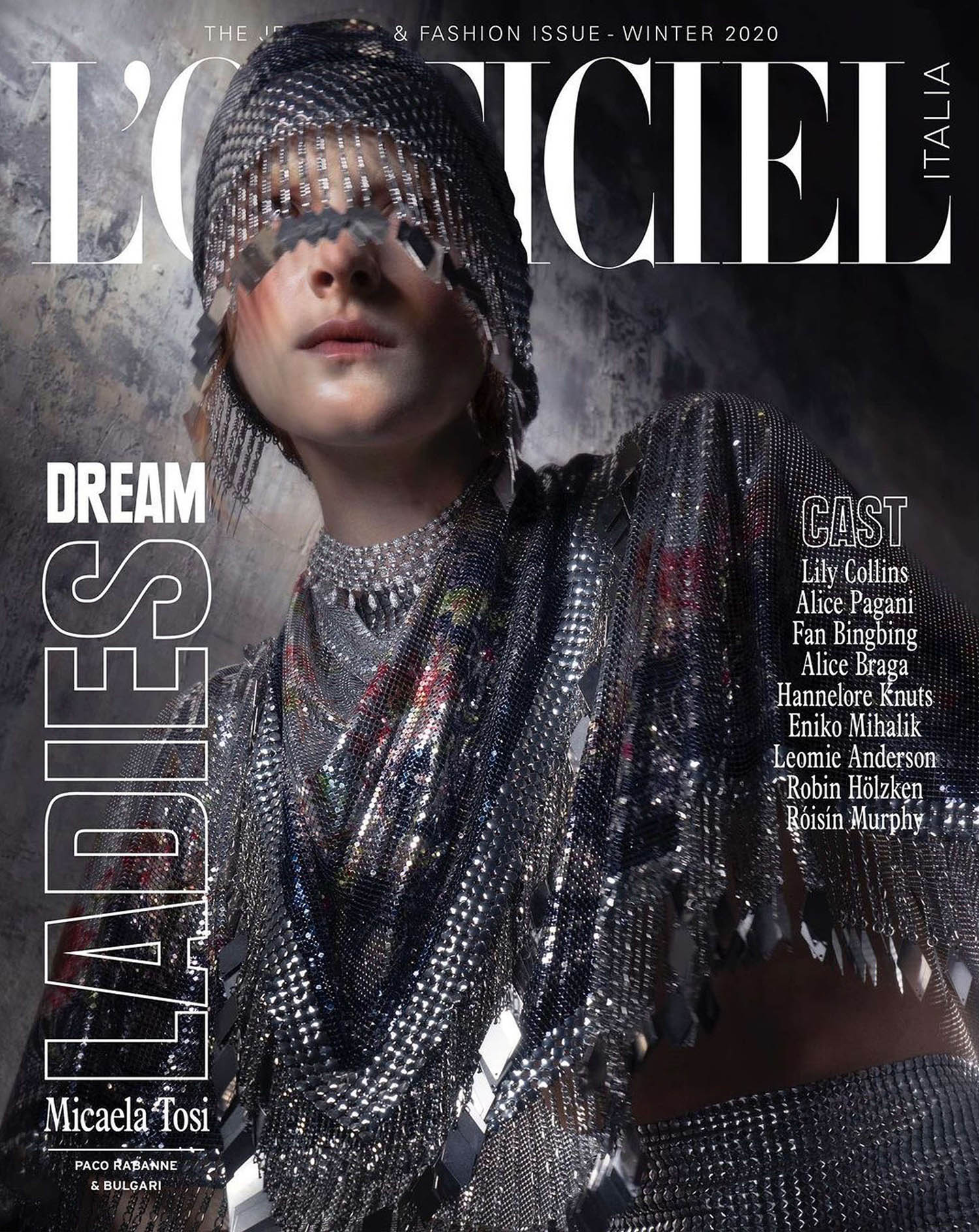 Mica Tosi covers L'Officiel Italia Issue 35 by Chris Sutton