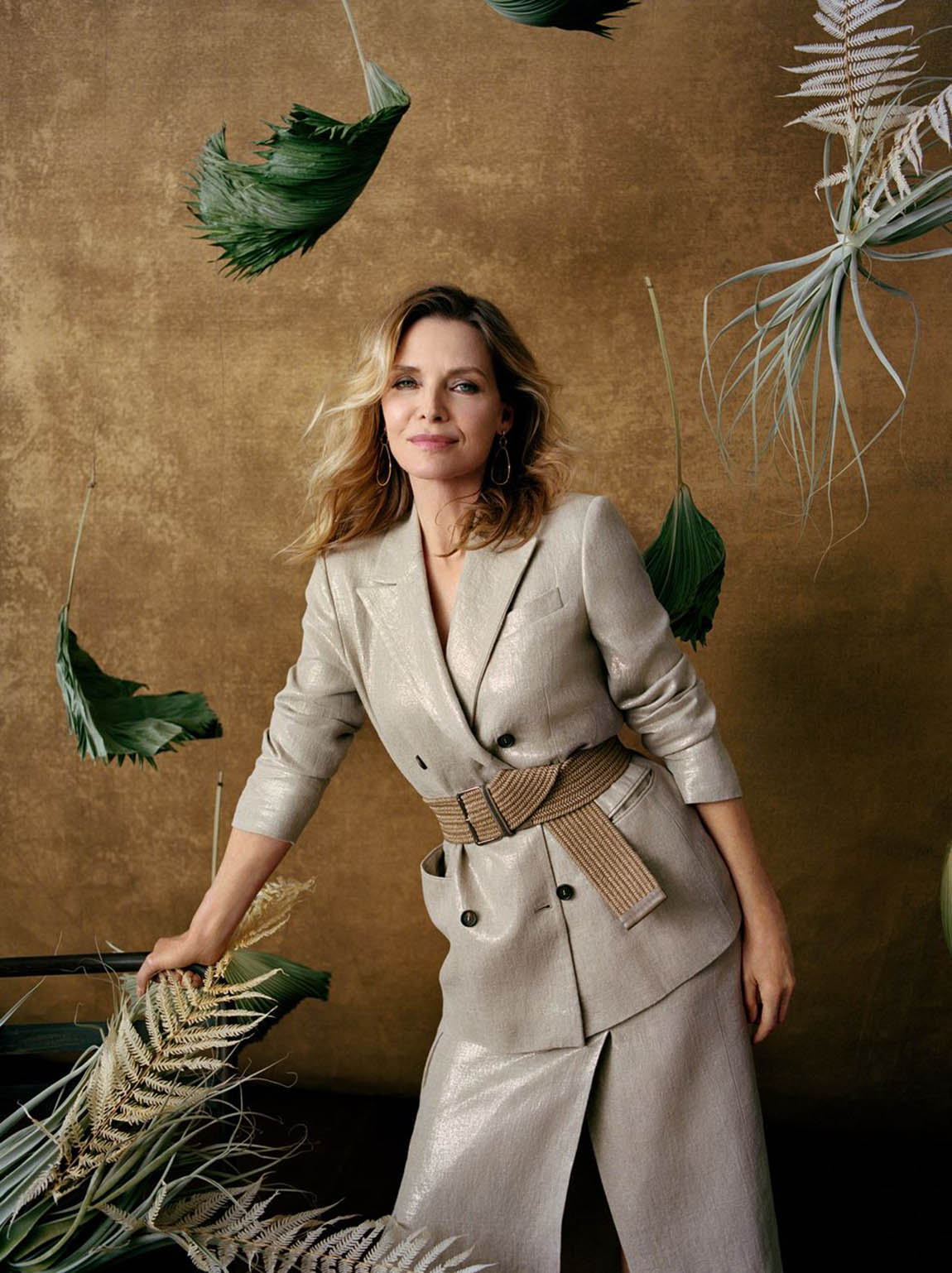 Michelle Pfeiffer covers Town & Country March 2021 by Shaniqwa Jarvis
