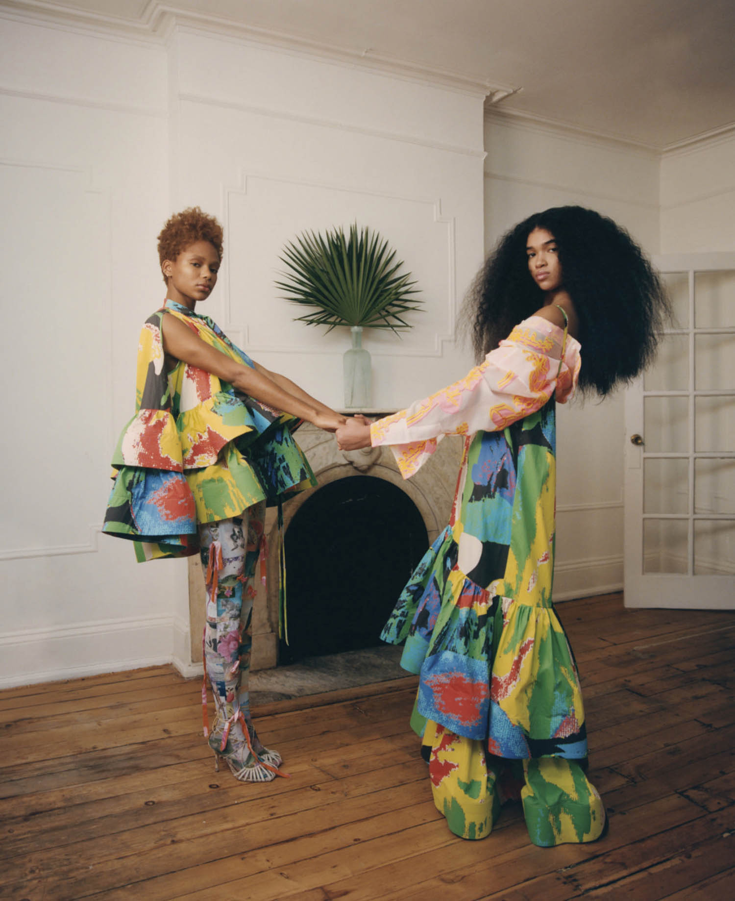 Na'Jeen Michelle and Aun'Jel Yepp by Renell Medrano for Elle US March 2021