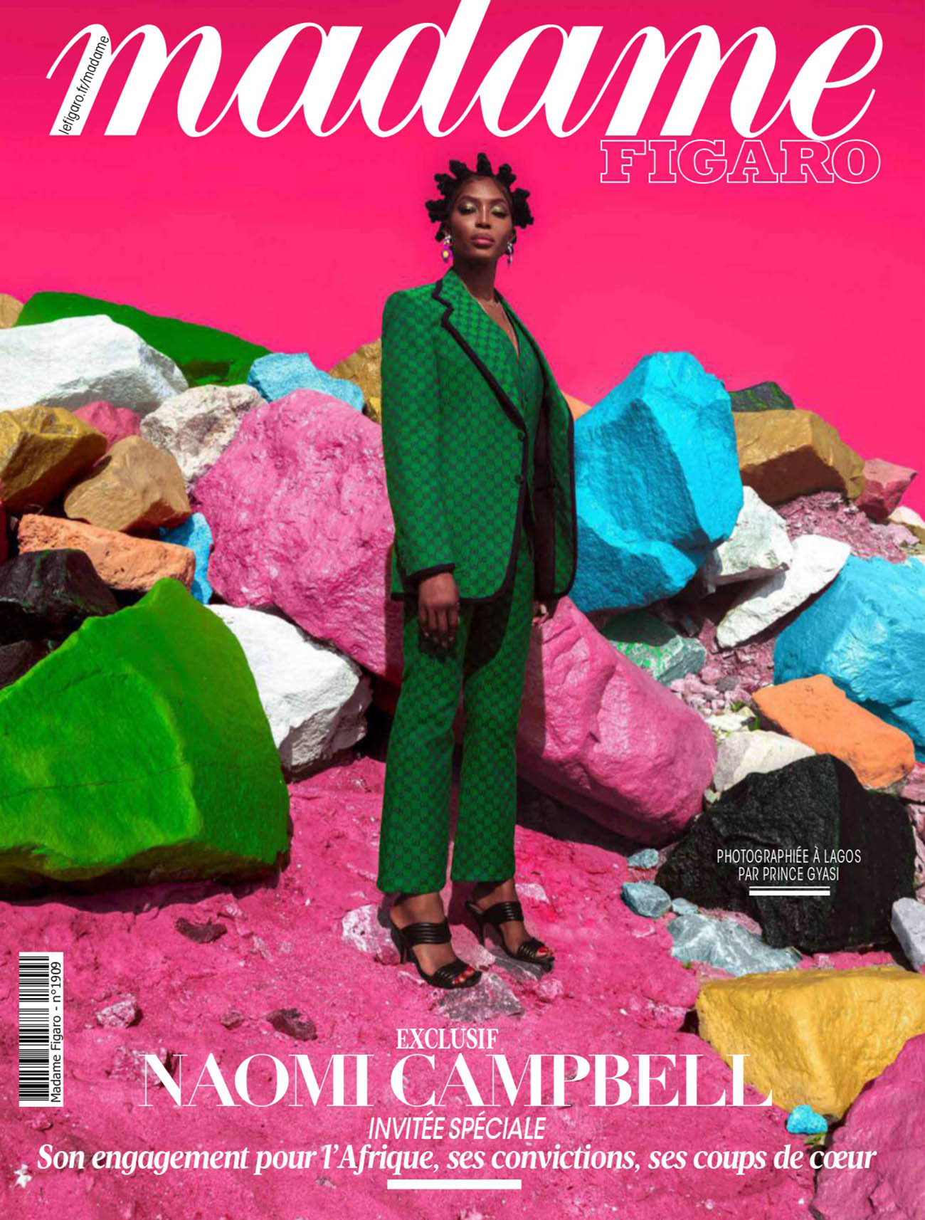 Naomi Campbell covers Madame Figaro March 26th, 2021 by Prince Gyasi