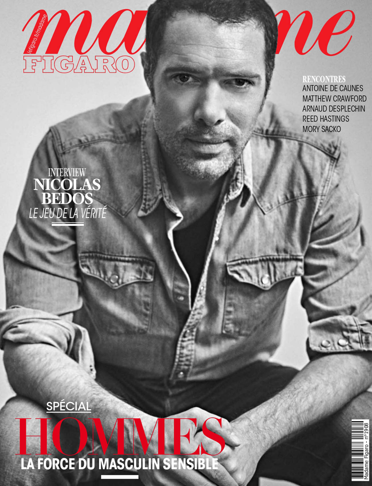 Nicolas Bedos covers Madame Figaro March 19th, 2021 by Arno Lam