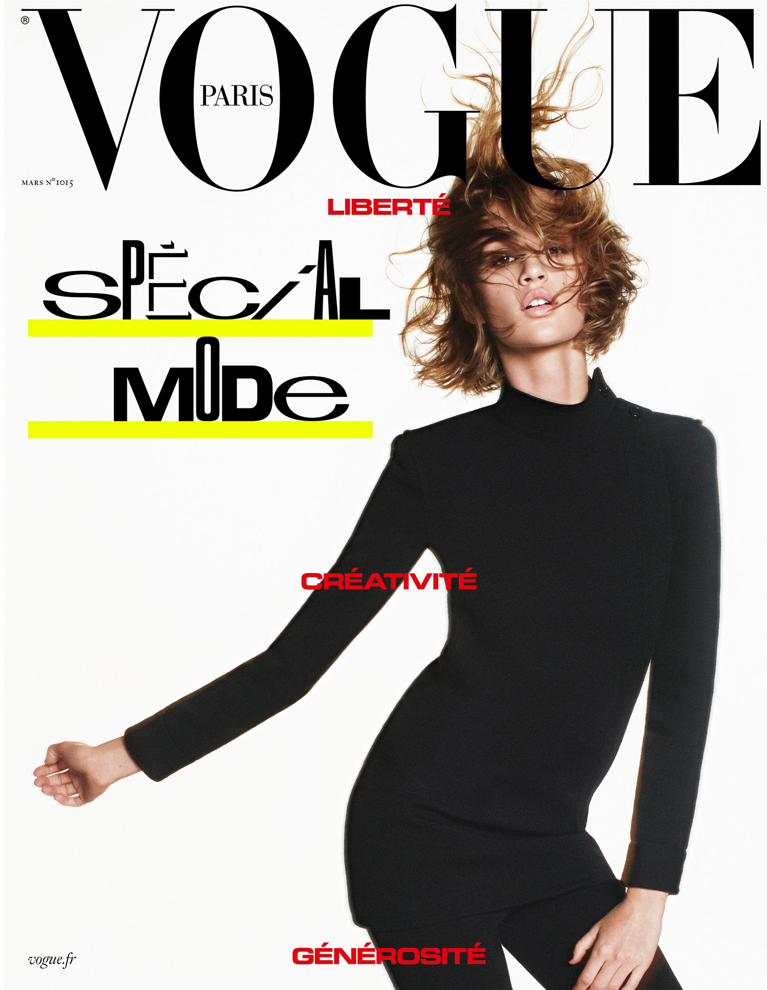 Quinn Mora covers Vogue Paris March 2021 by David Sims