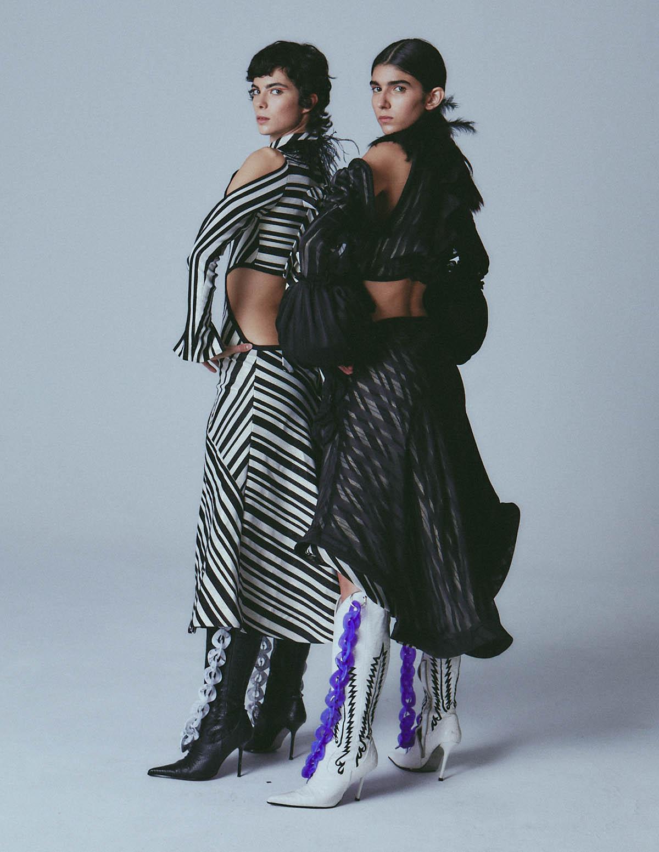 Rebeca Solana and Alba Luna by Ángela B. Suarez for Vogue Spain March 2021