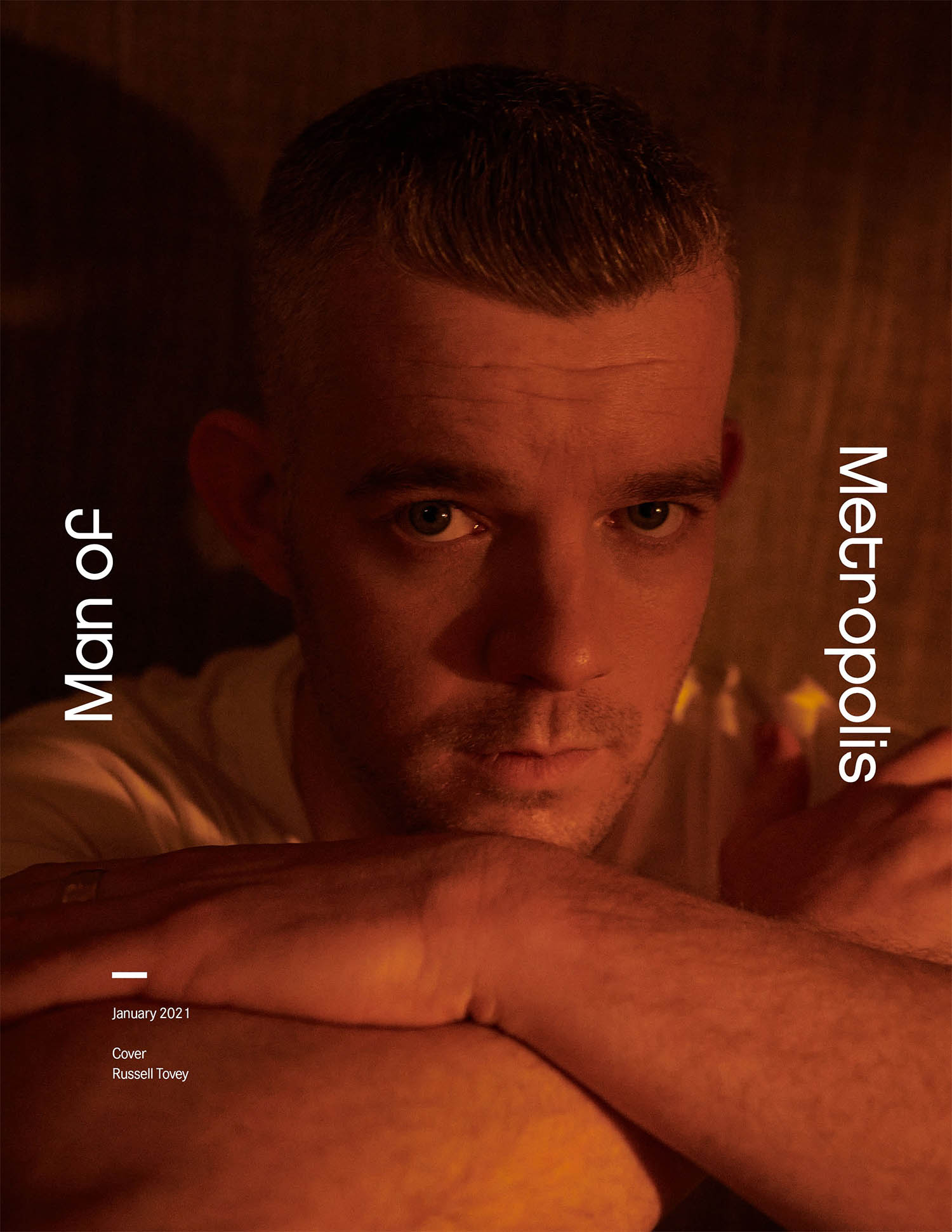 Russell Tovey covers Man of Metropolis January 2021 by Joseph Sinclair